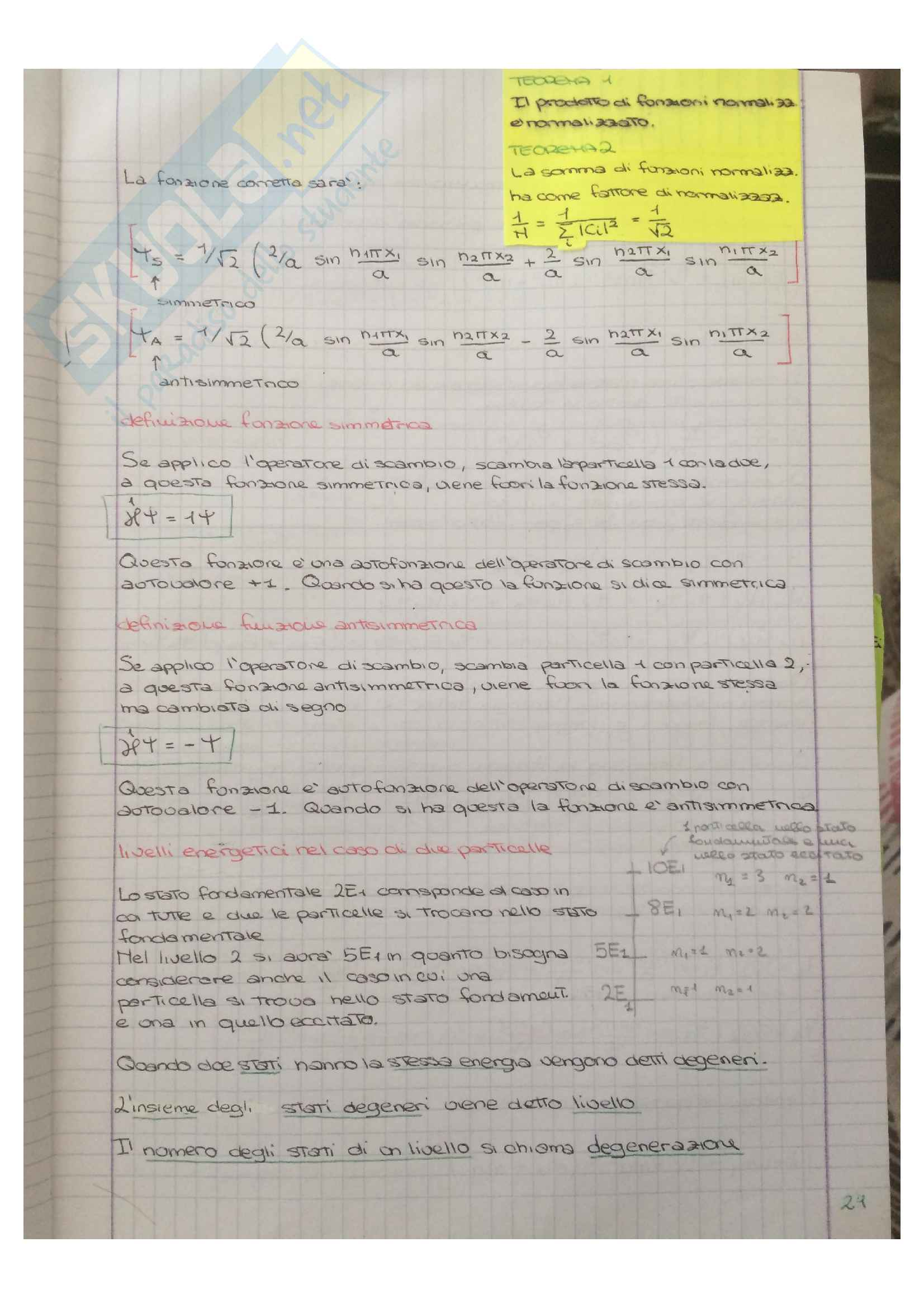 Appunti di Meccanica quantistica Pag. 21