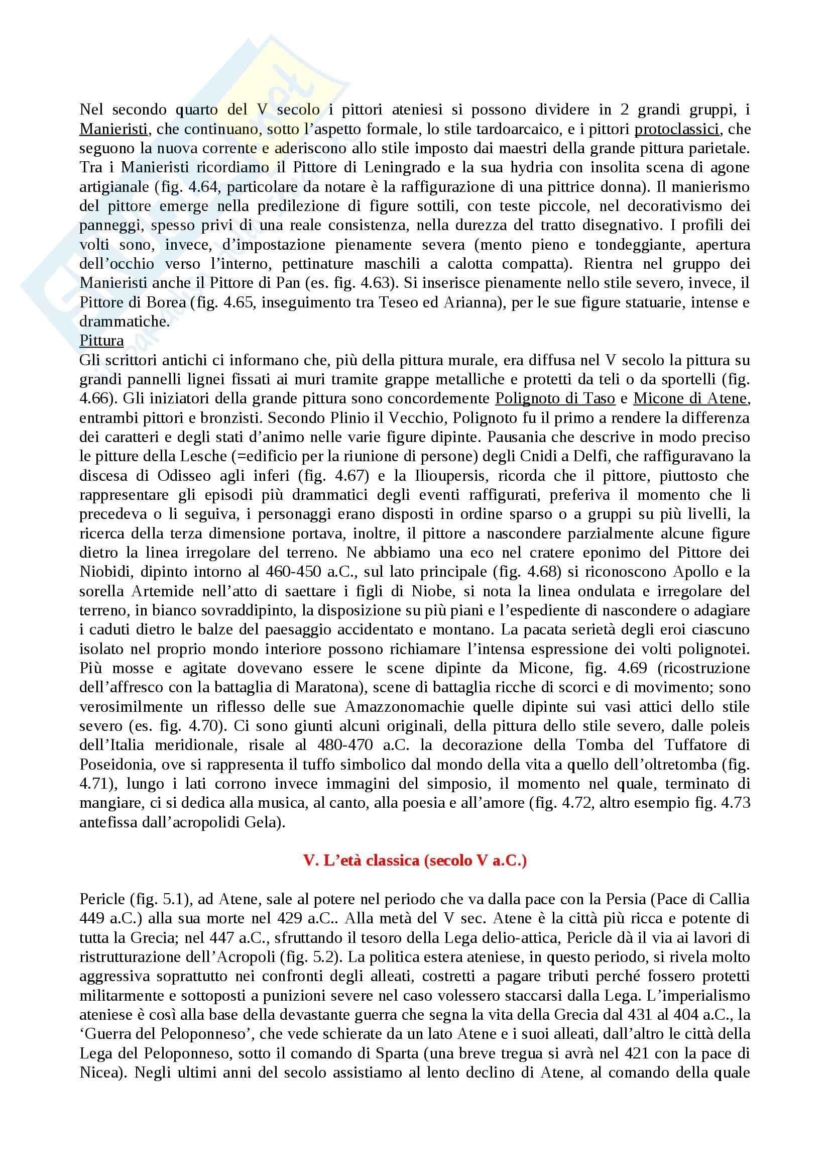 Riassunto esame Archeologia e storia dell'arte greca, prof. Brizzolara, libro consigliato Arte greca, Bejor,Lambrugo, Castoldi Pag. 26