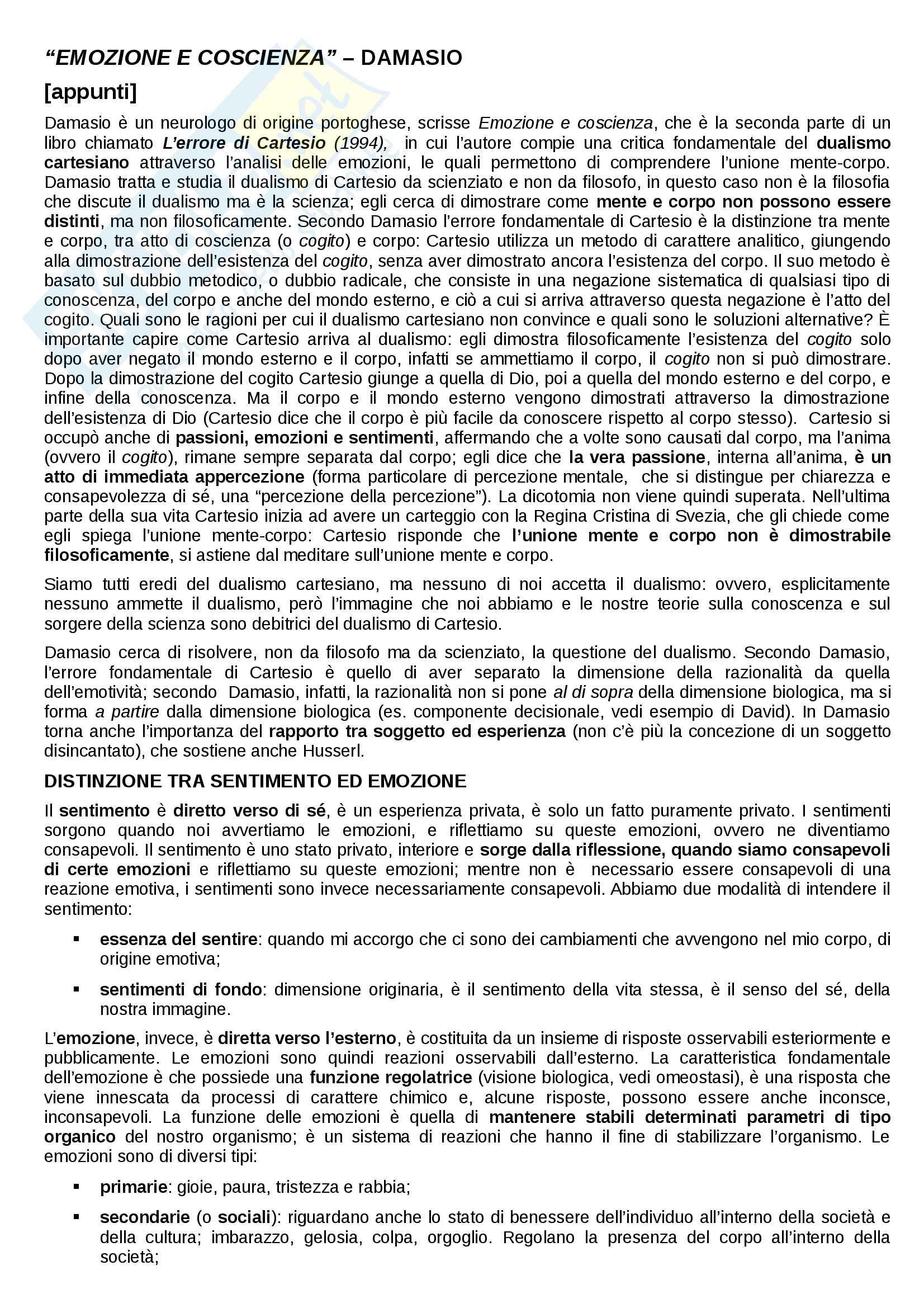 Riassunto esame Storia del pensiero filosofico e scientifico, prof. Malaguti e Formisano