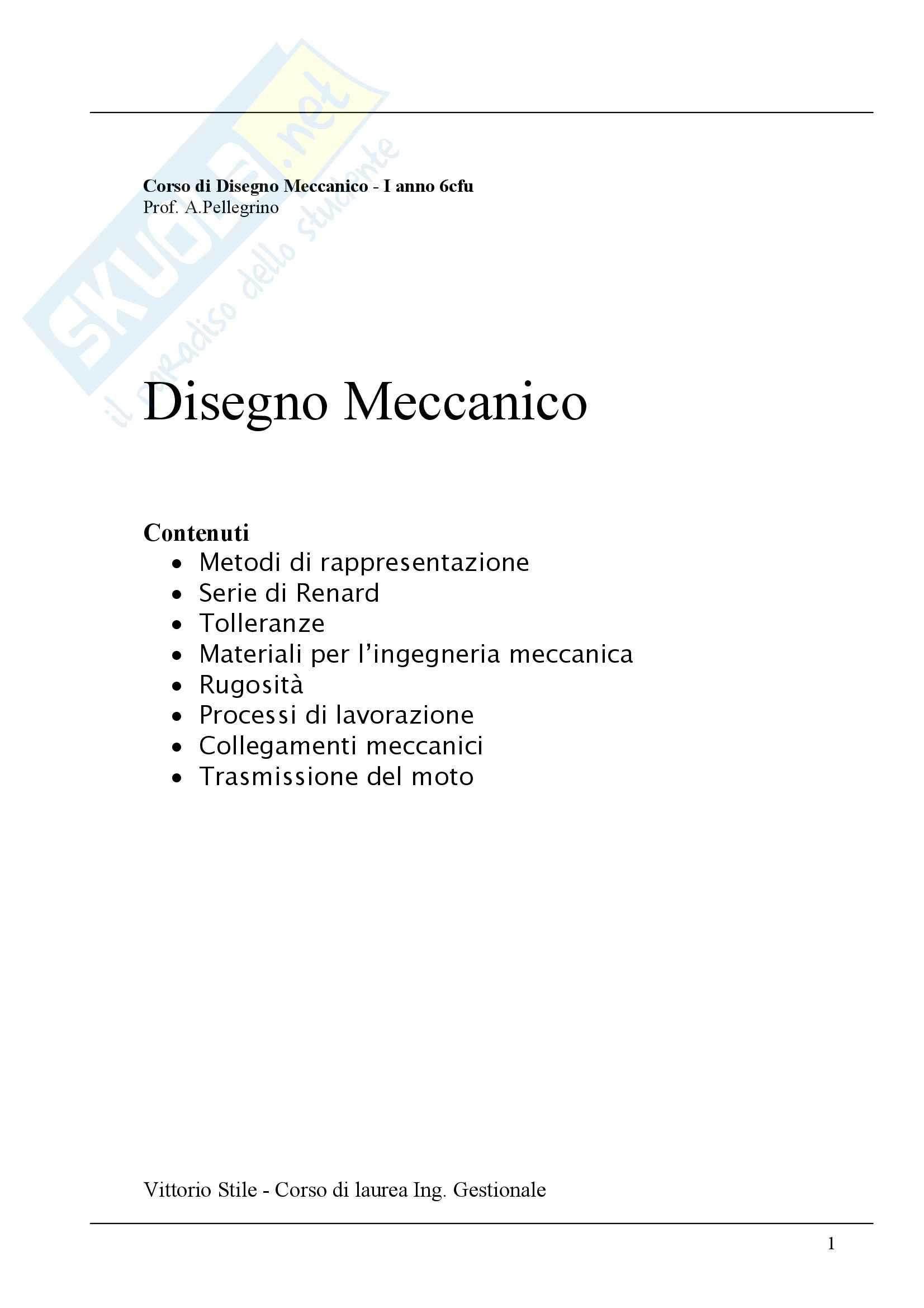 Disegno Meccanico - Appunti