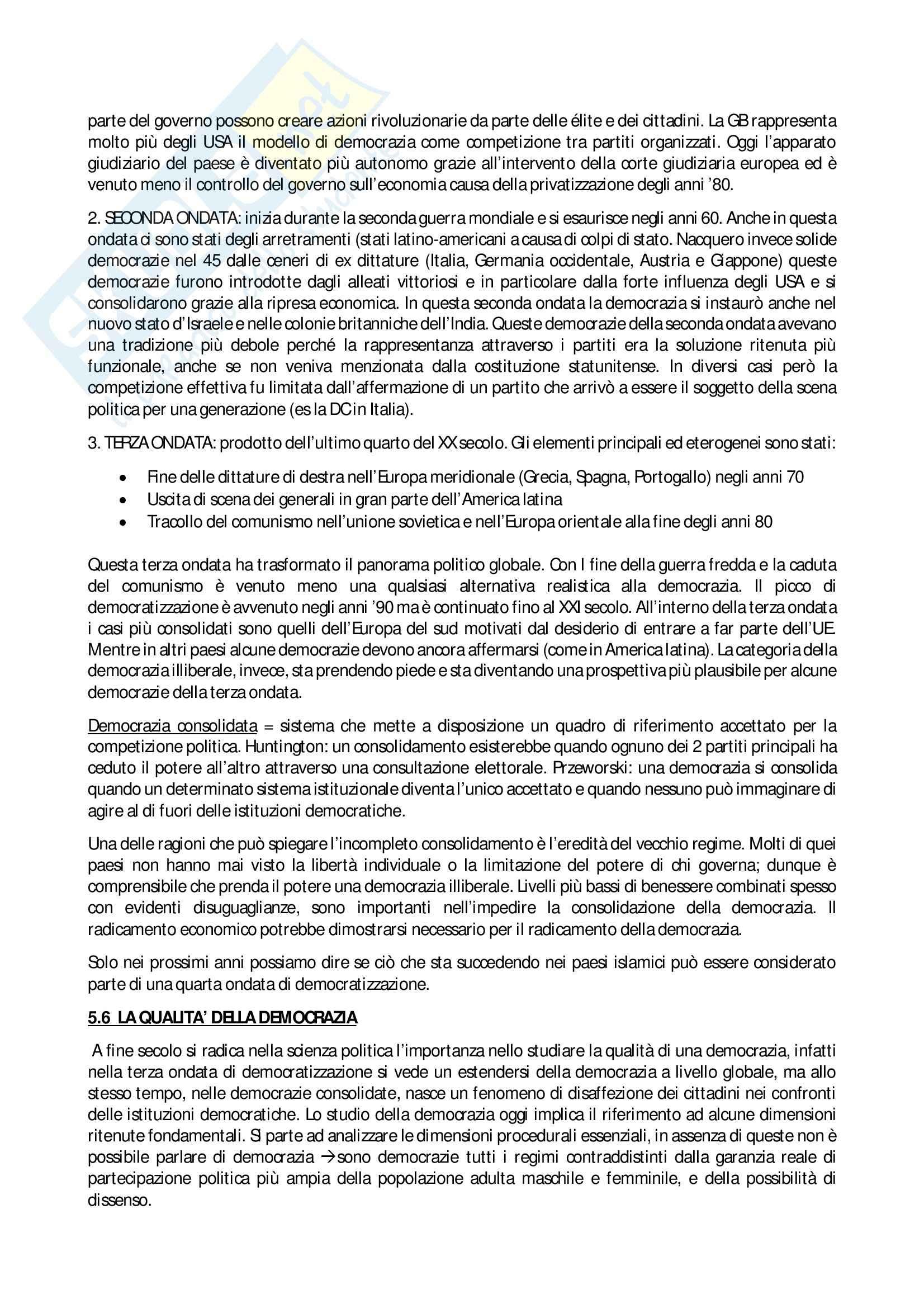 Riassunto esame Scienza politica, prof. Giannetti, libro consigliato Manuale di Scienza Politica Hagu, Harrop Pag. 11
