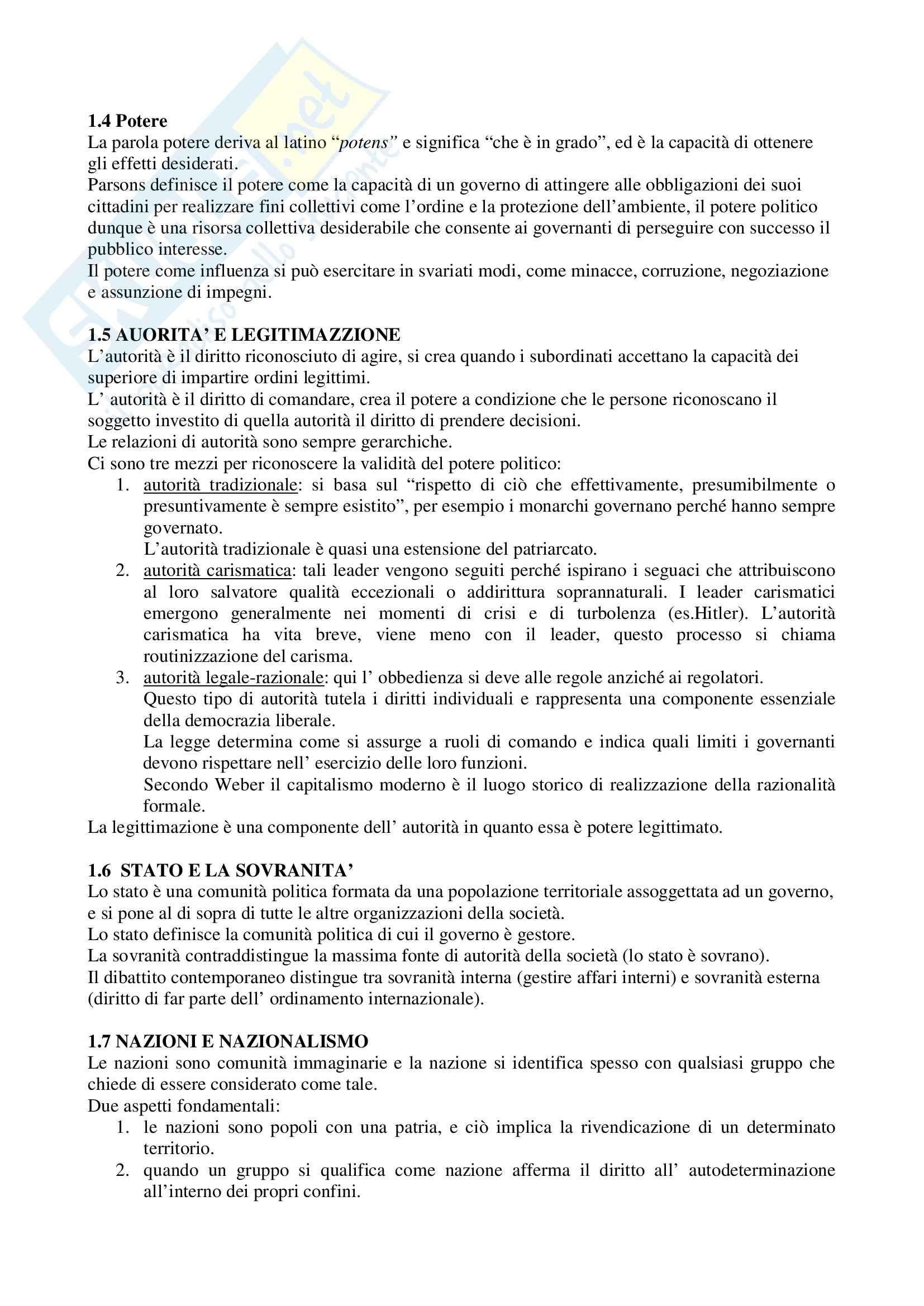 Riassunto esame Scienza politica, prof. Giannetti, libro consigliato Manuale di Scienza Politica Hagu, Harrop Pag. 2