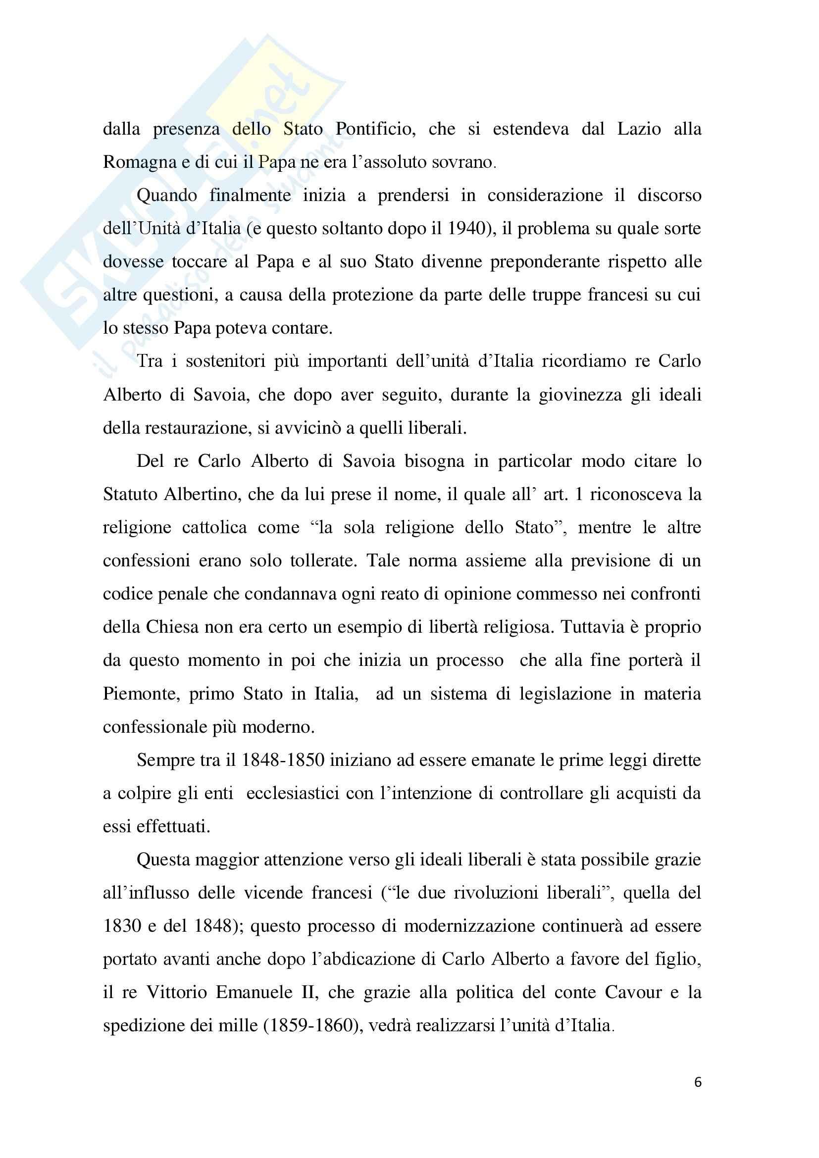 Tesi Diritto ecclesiastico - La trascrizione del matrimonio canonico Pag. 6