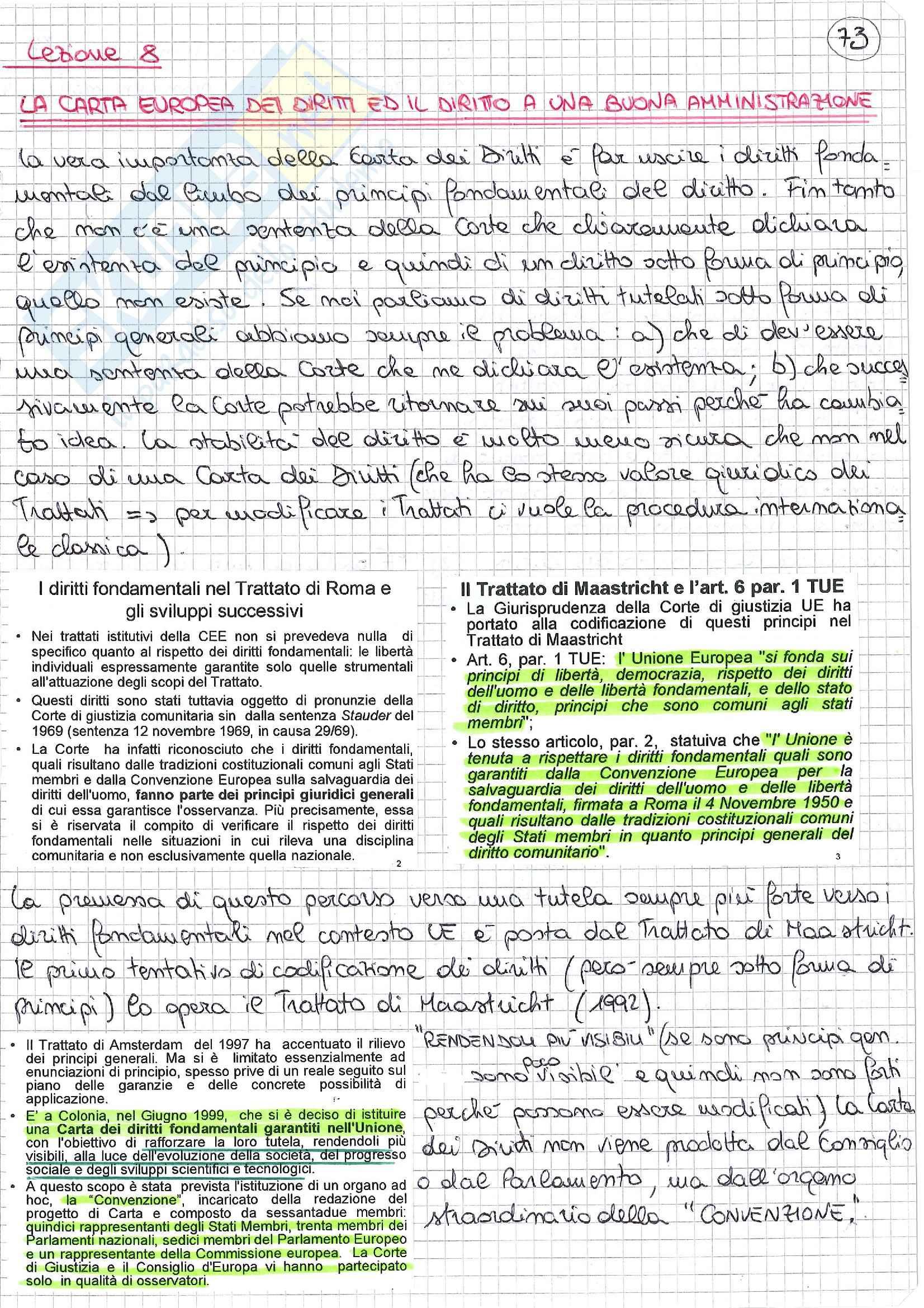 appunto D. Galetta Diritto amministrativo europeo