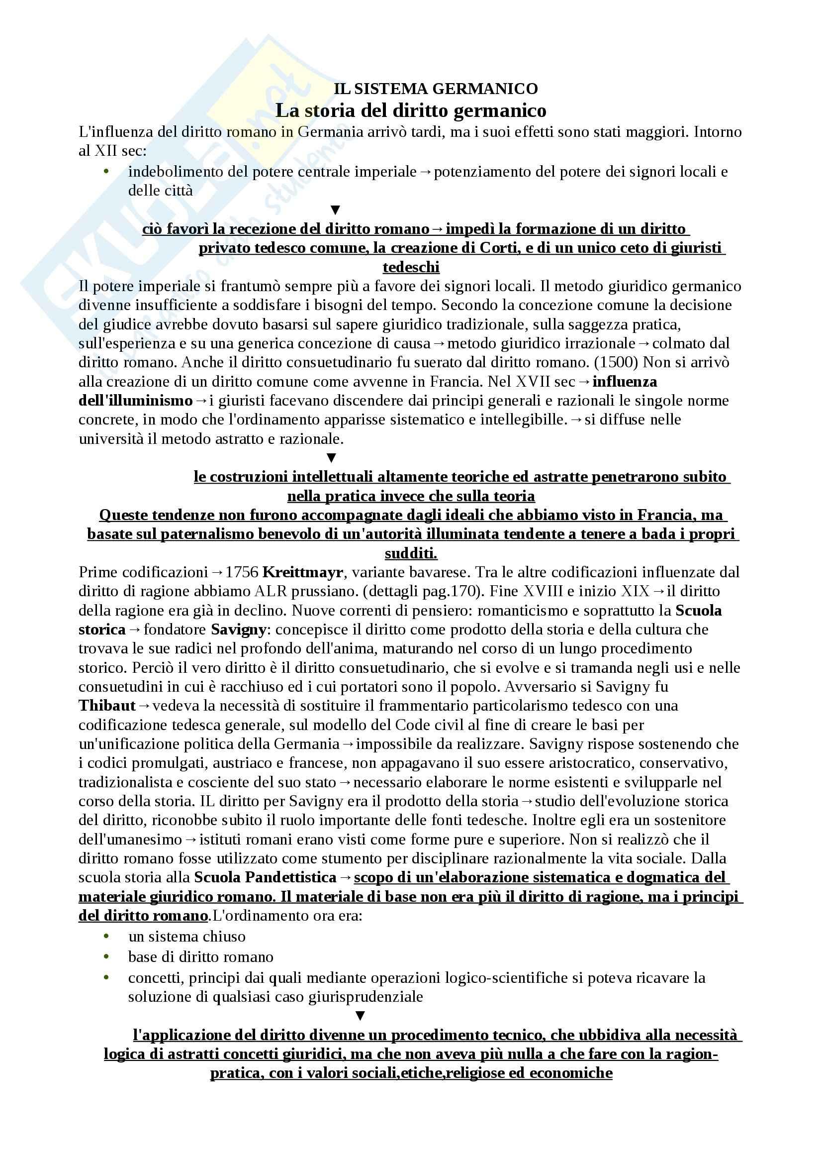 Schema: Appunti di Diritto privato comparato Pag. 16