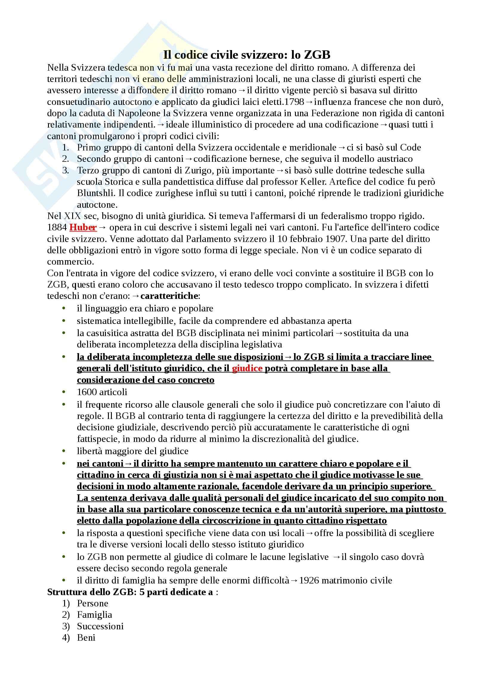 Schema: Appunti di Diritto privato comparato Pag. 21