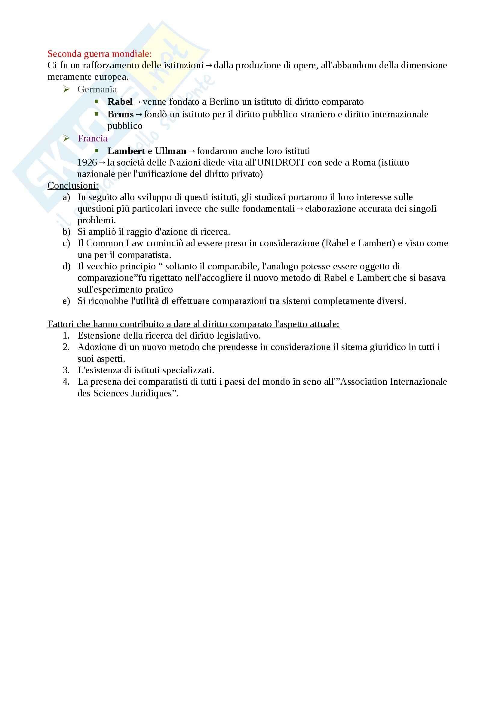 Schema: Appunti di Diritto privato comparato Pag. 6