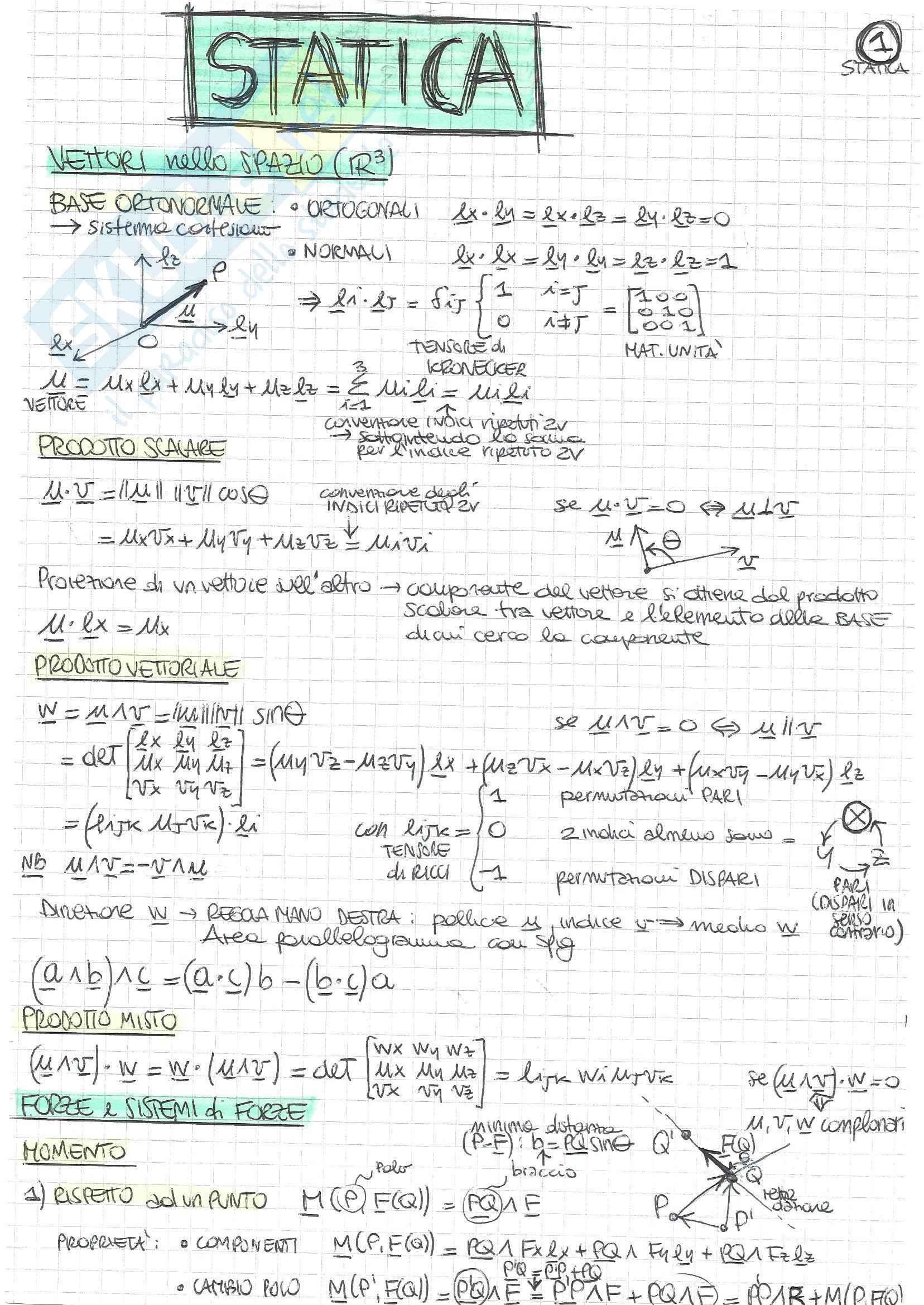 Statica - Teoria