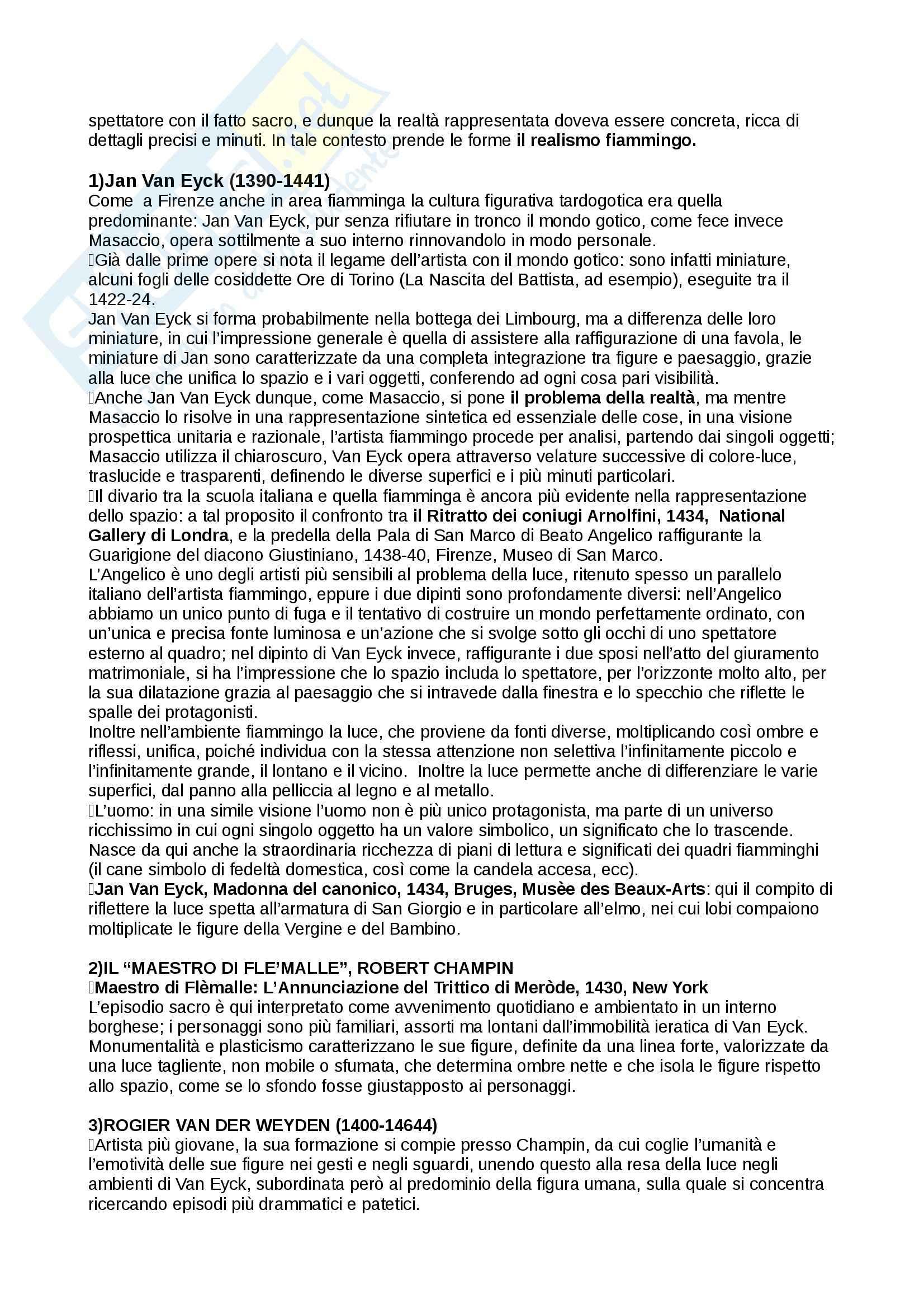 Riassunto esame Storia dell'Arte Moderna, prof. Benati, libro consigliato Arte nel tempo: Dal Gotico Internazionale alla Maniera Moderna, De Vecchi Pag. 11