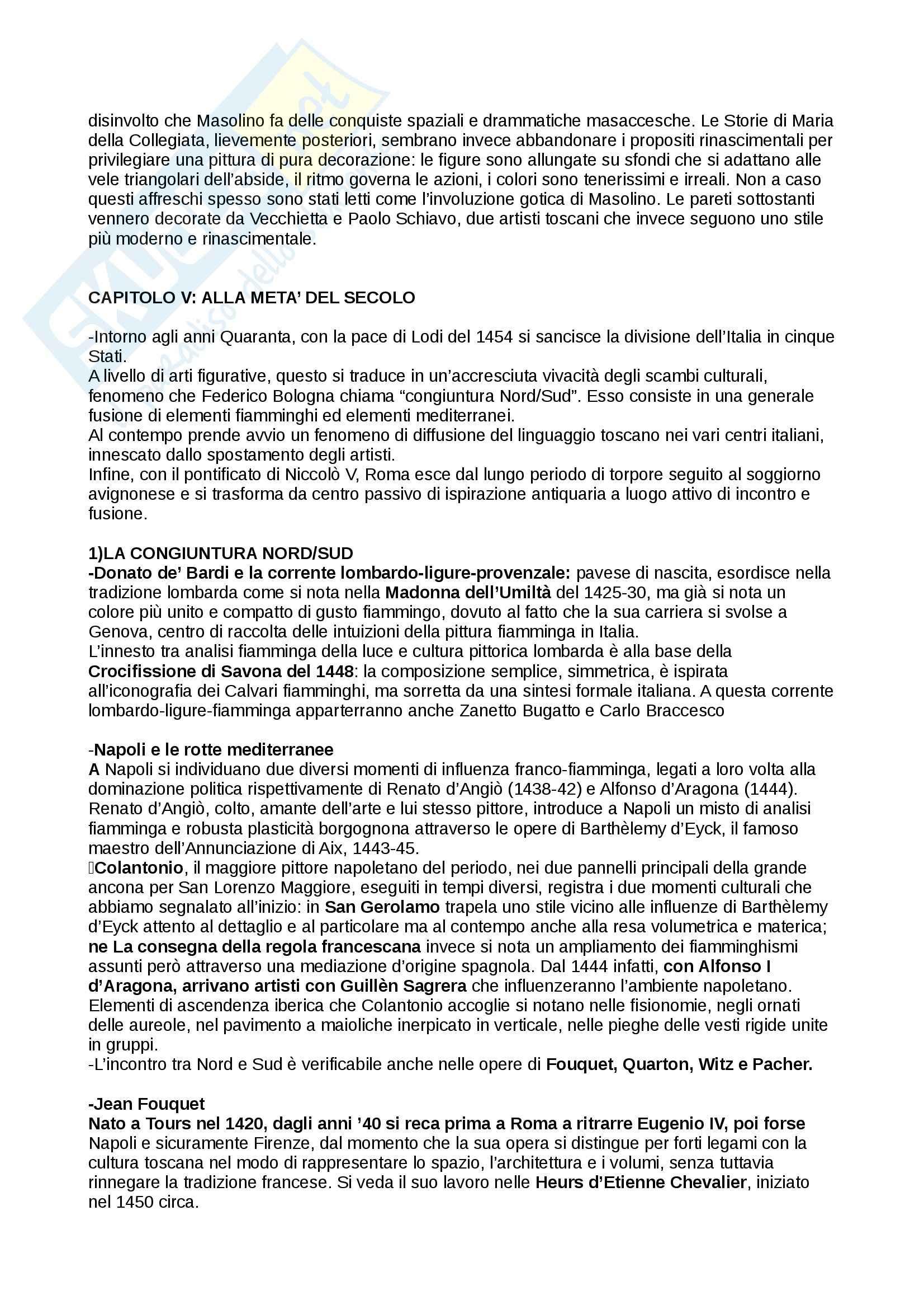 Riassunto esame Storia dell'Arte Moderna, prof. Benati, libro consigliato Arte nel tempo: Dal Gotico Internazionale alla Maniera Moderna, De Vecchi Pag. 16
