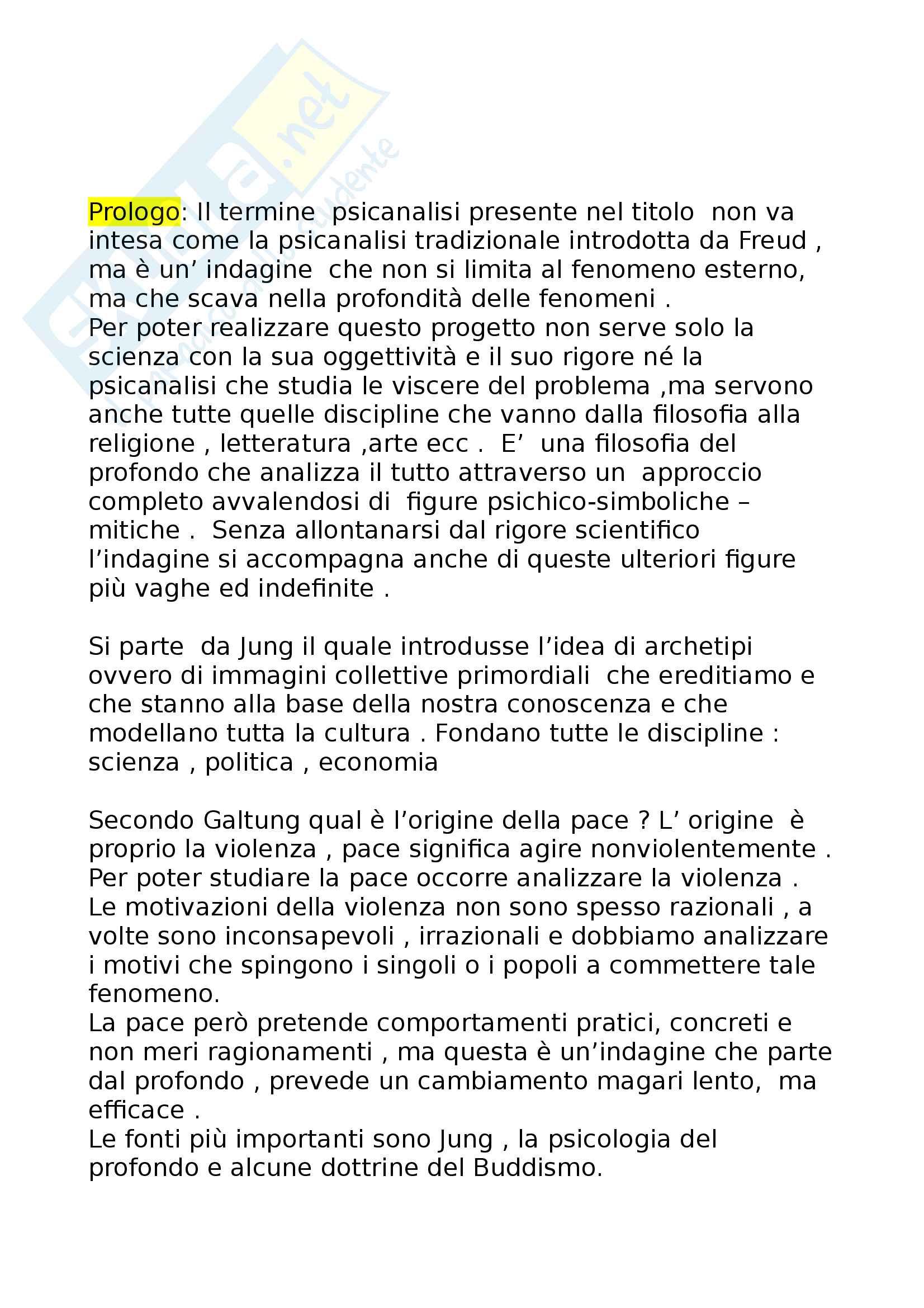 """Riassunto di filosofia del diritto , prof Bonsignori, testo consigliato """"Psicanalisi della Pace"""