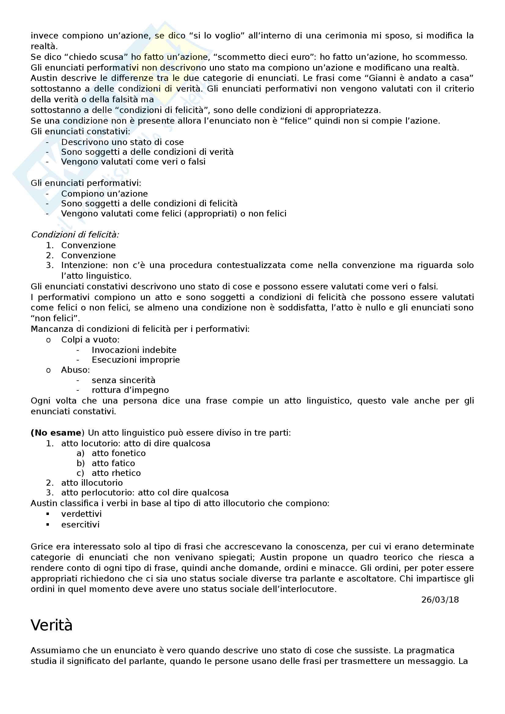 Appunti primo modulo filosofia del linguaggio Pag. 6