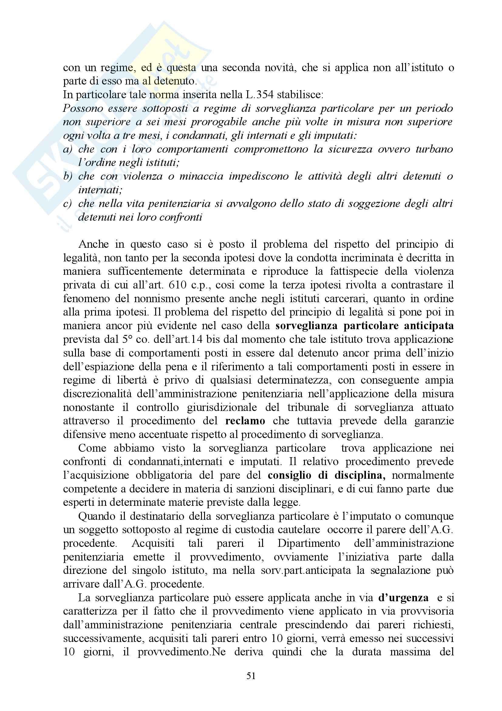 Diritto penitenziario - Appunti Pag. 51