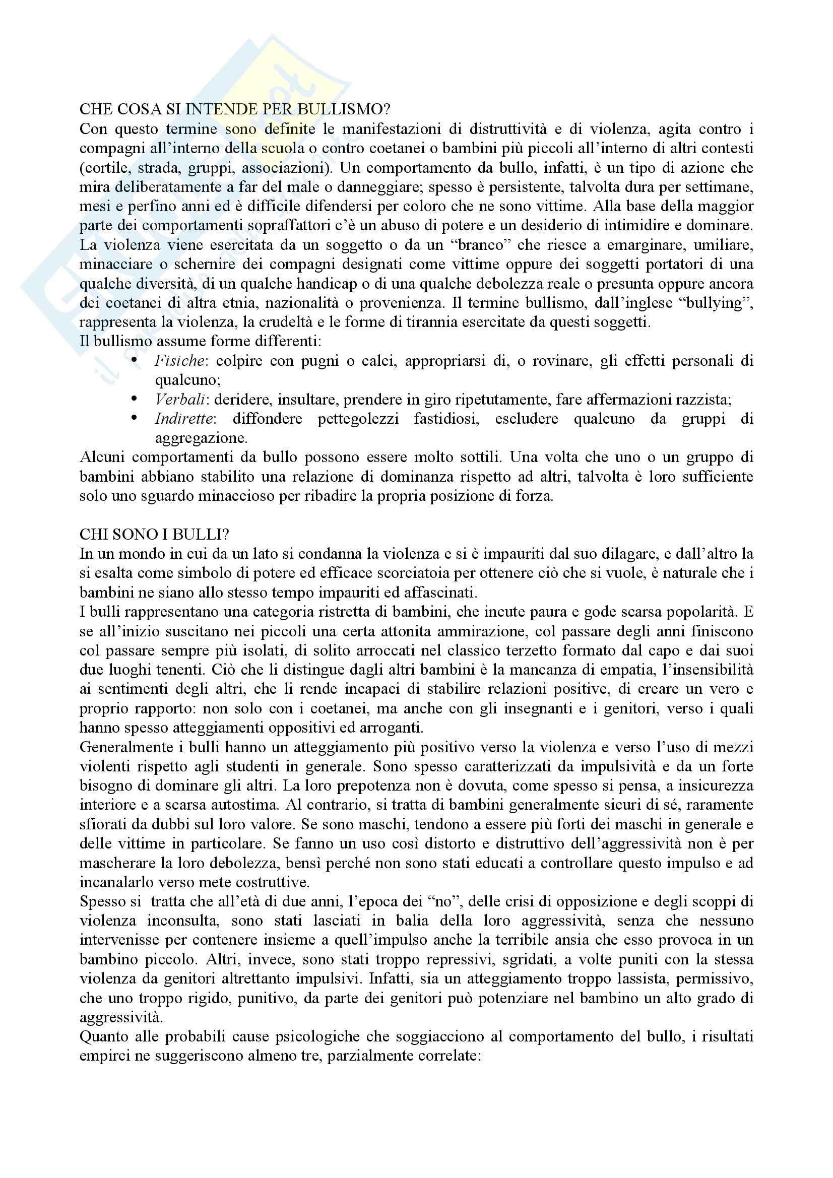 appunto P. Scienze Storiche Pedagogia