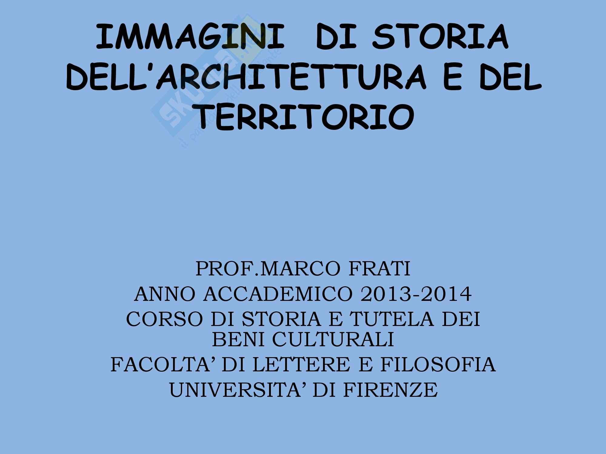Immagini, Storia dell'architettura