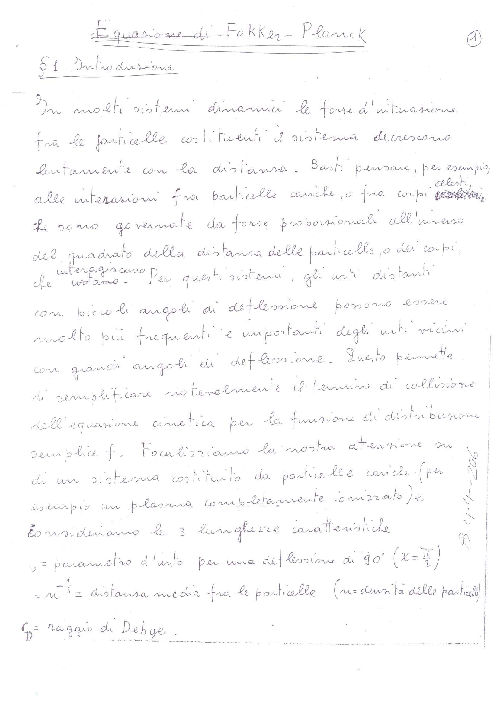 Equazione di Fokker - Planck
