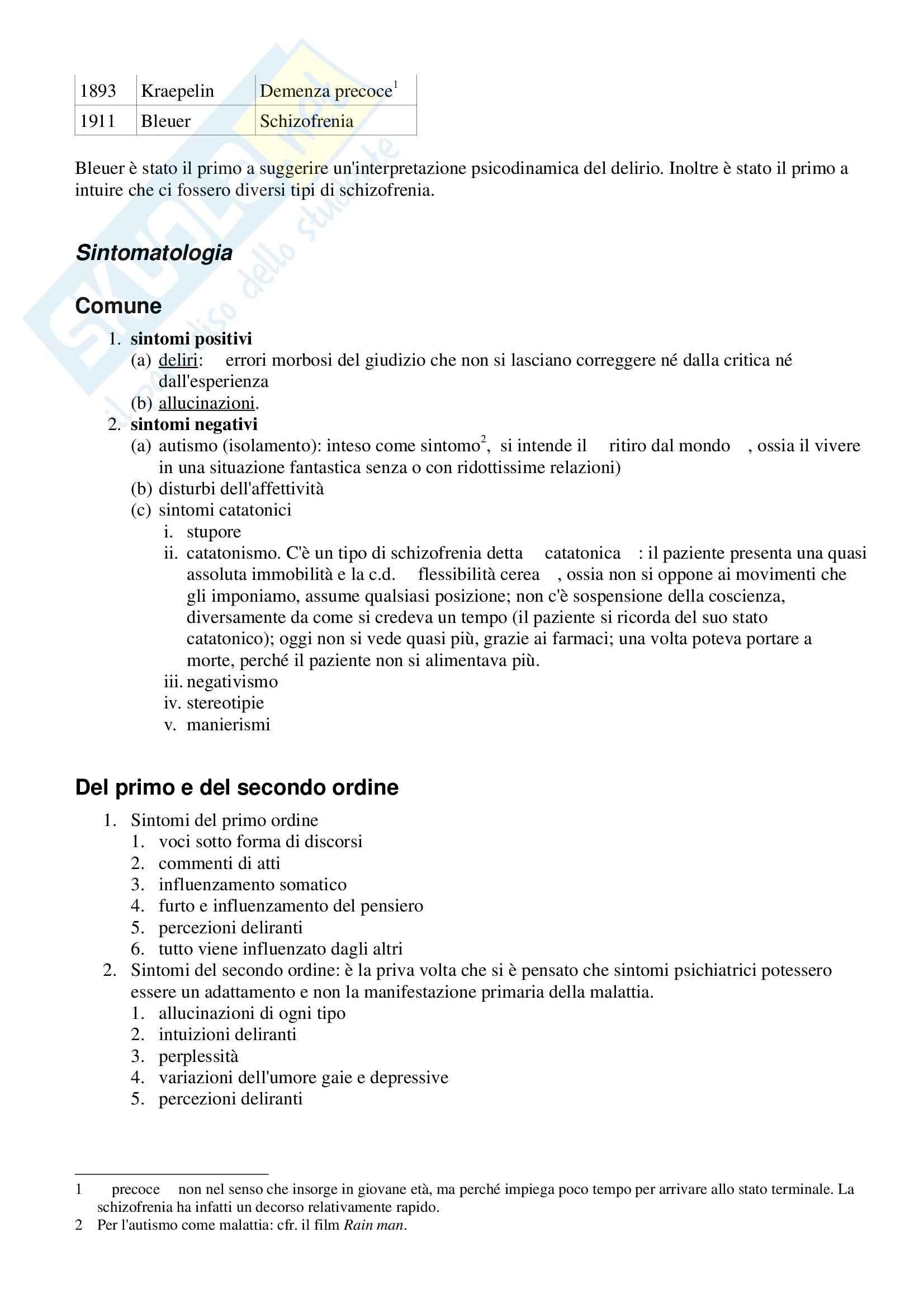 Psichiatria - schizofrenia Pag. 2