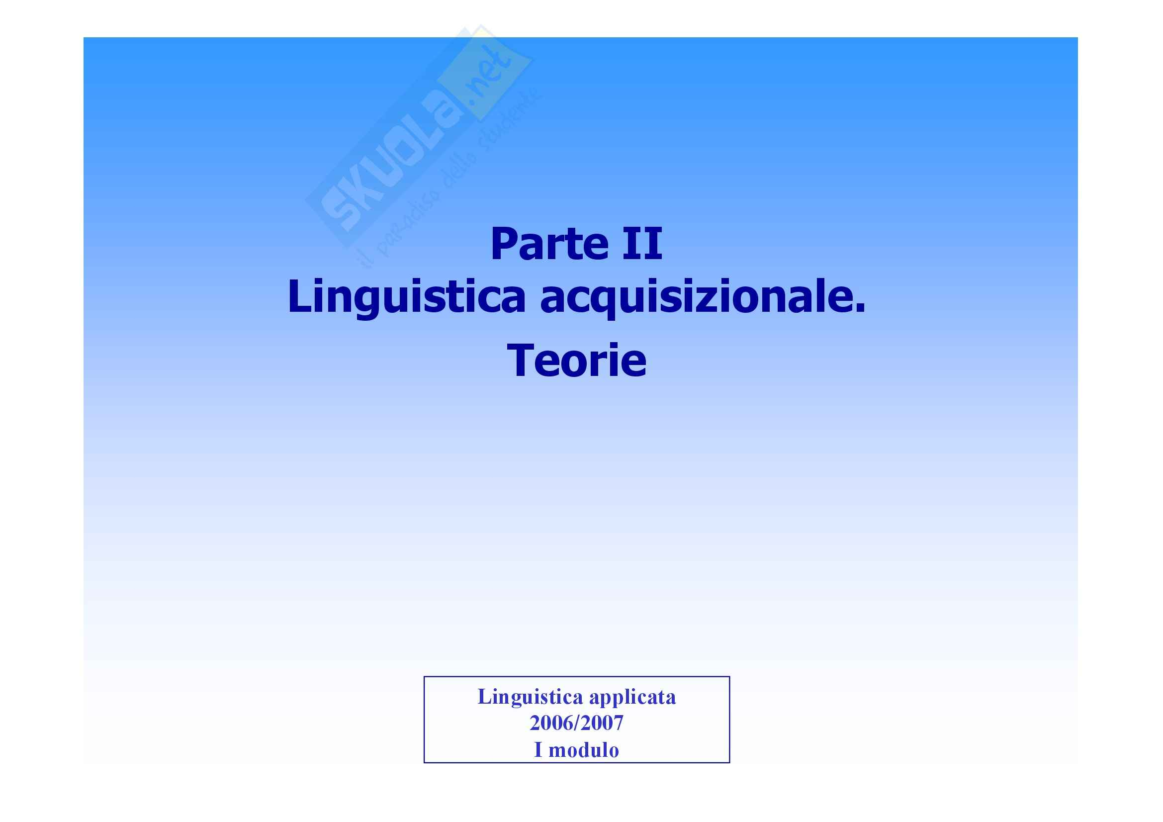 Linguistica applicata - Appunti ( seconda parte)