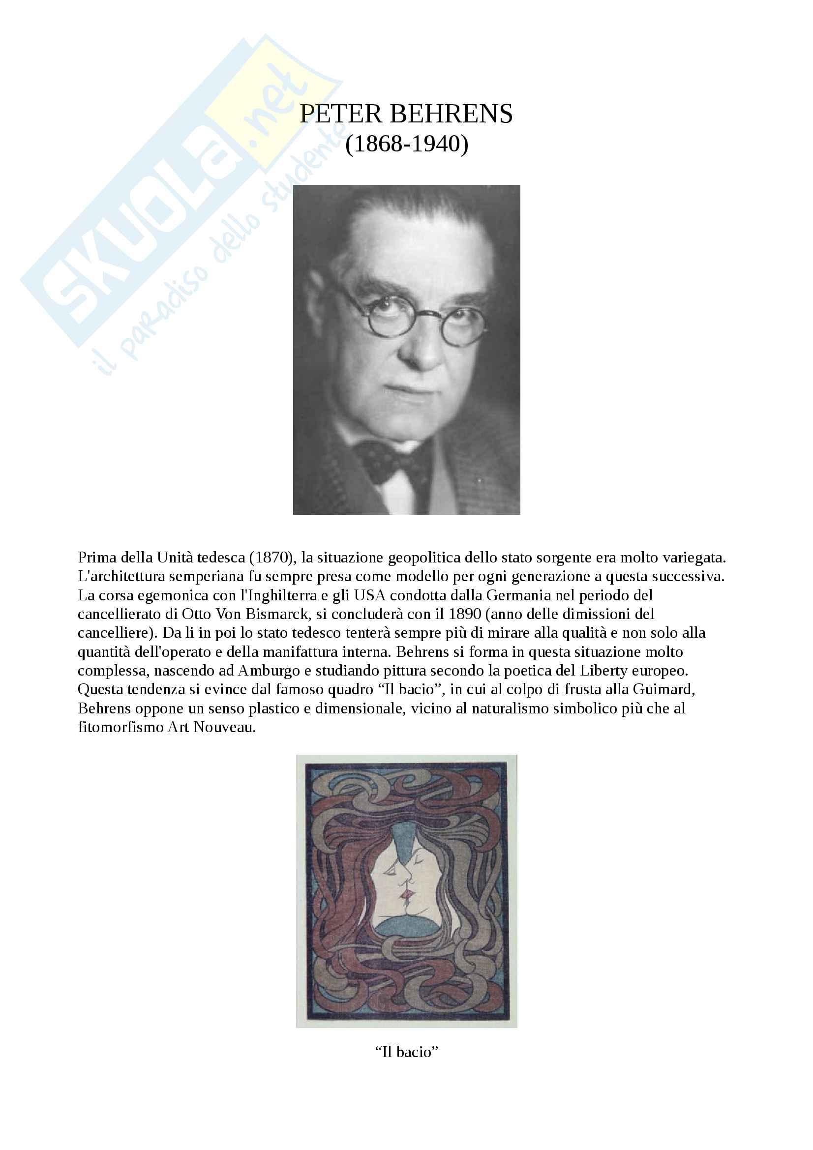 Peter Behrens Muthesius e Werkbund