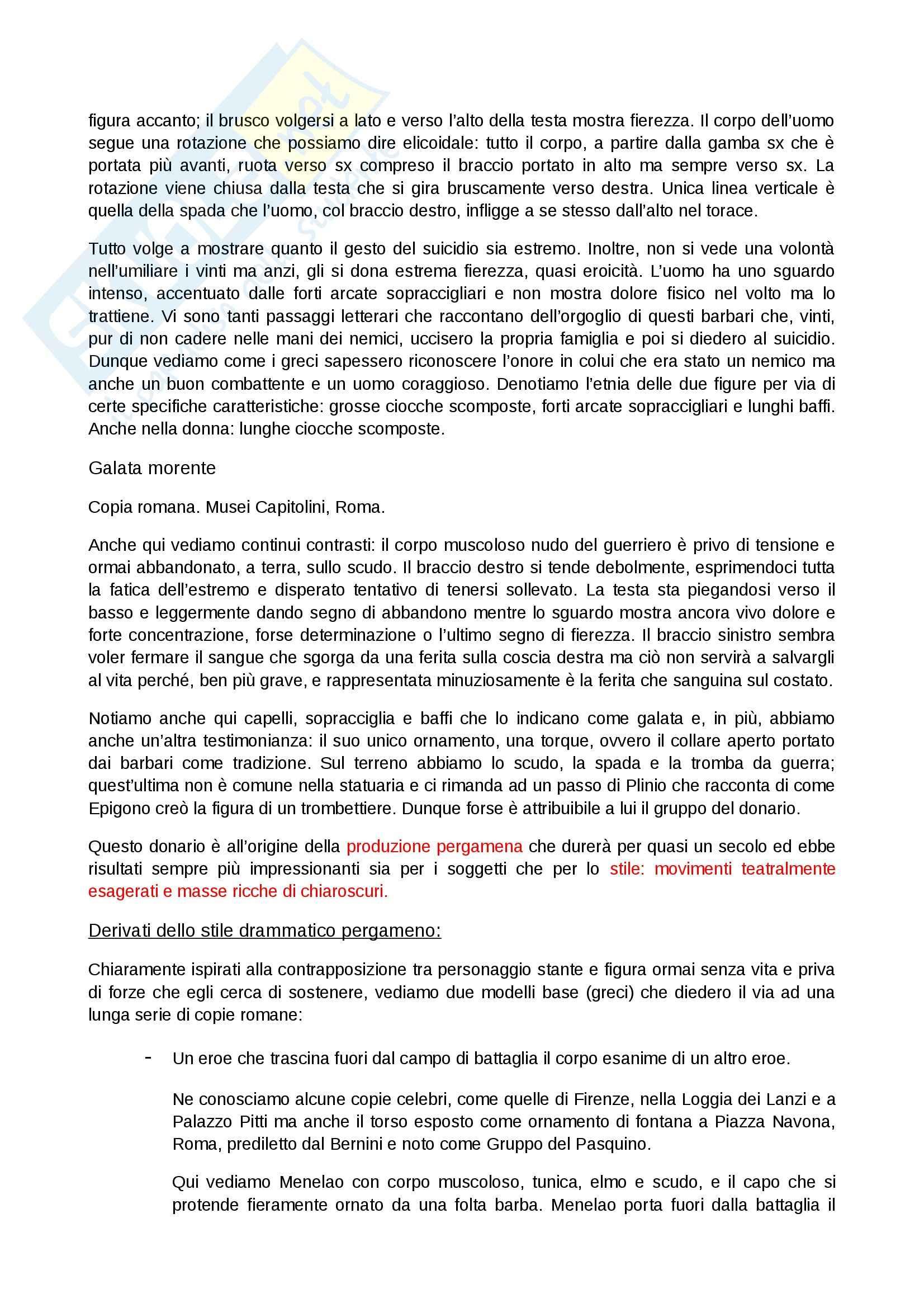 Riassunto esame Arte Greca, prof. Sacchi, libro consigliato Arte greca, Bejor Pag. 21