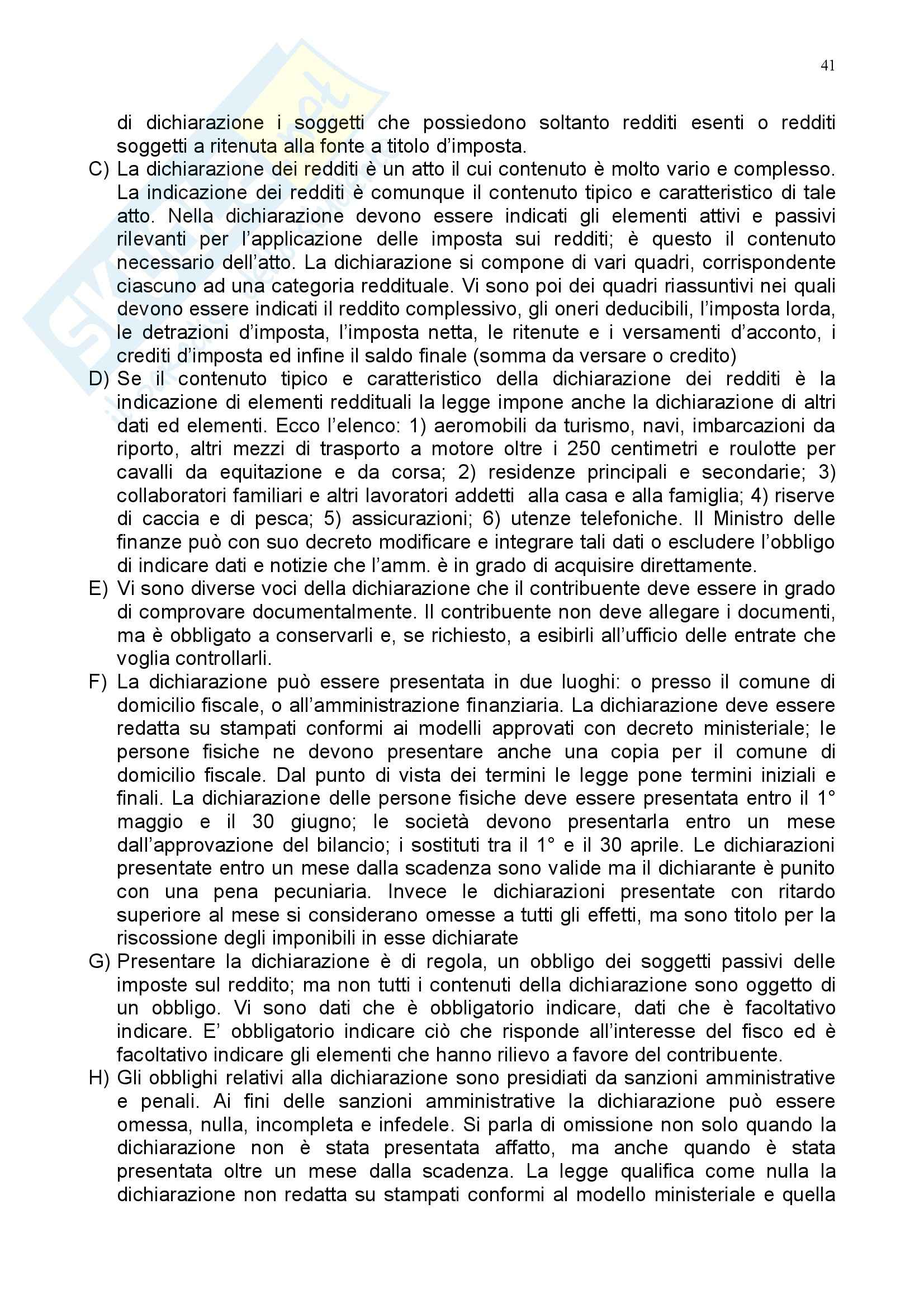 Riassunto esame Diritto Tributario, prof. Coppola, libro consigliato Istituzioni di Diritto Tributario, Tesauro Pag. 41