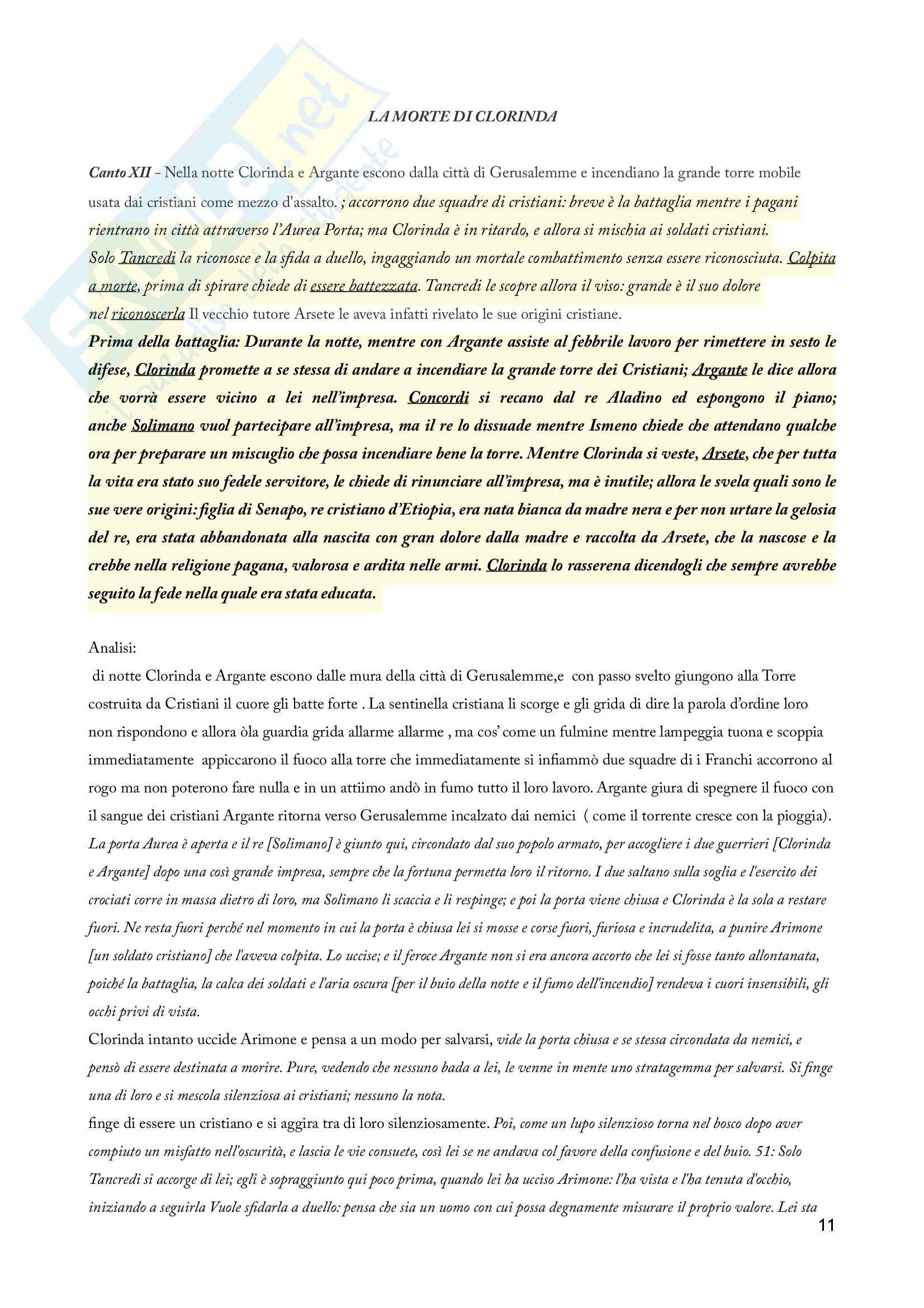 La Gerusalemme liberata - Riassunto, Analisi e Personaggi Pag. 11