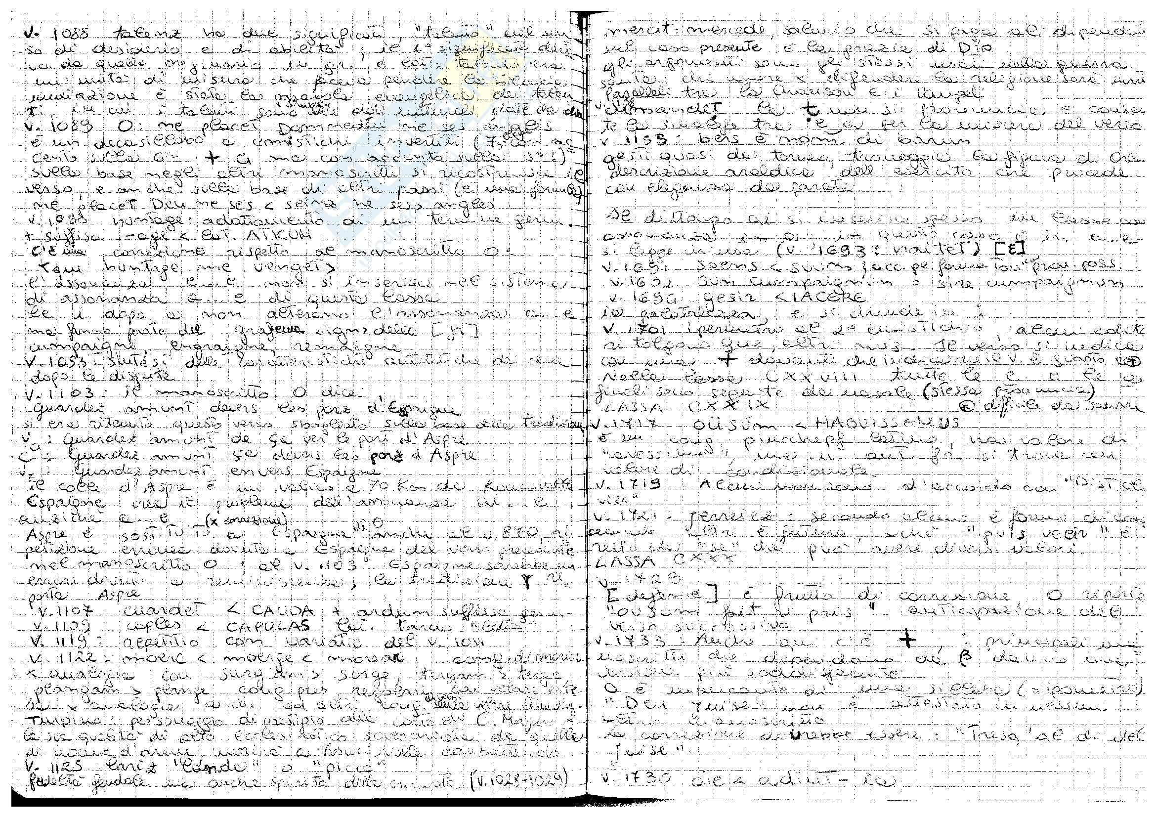 Chançon de Roland - Tradizione manoscritta e analisi linguistica Pag. 6