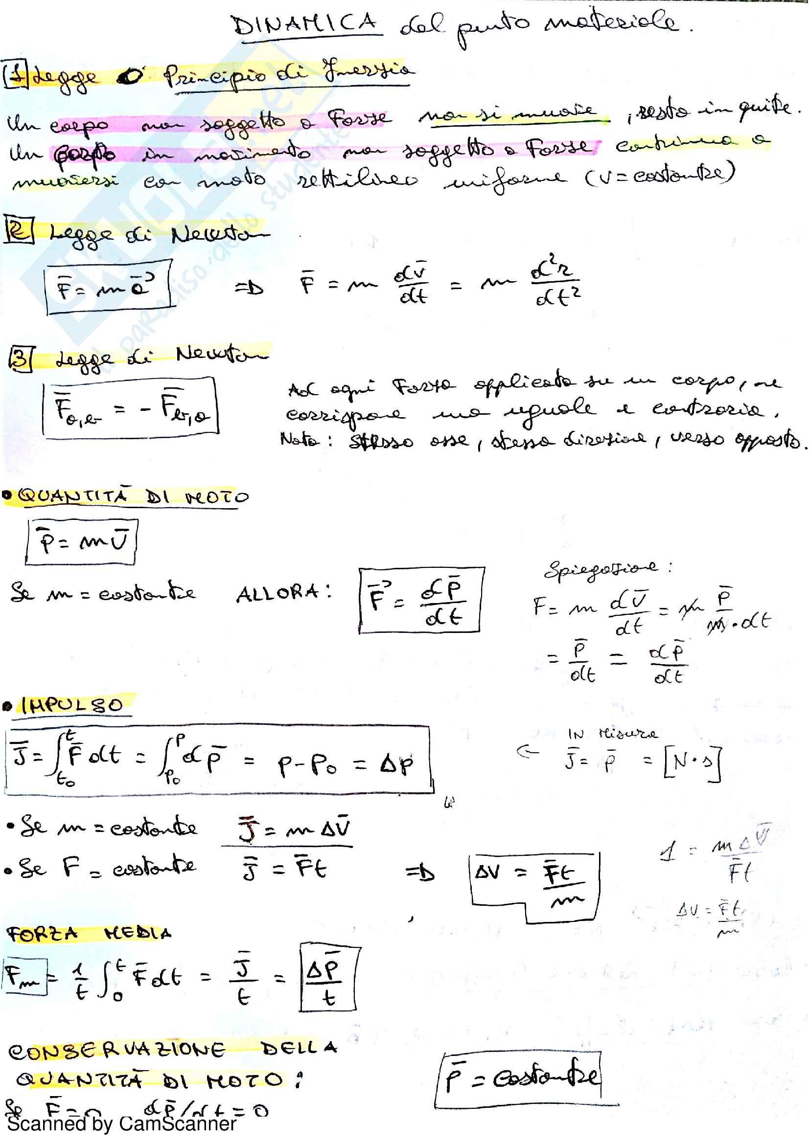 Fisica 1 , Ghigo Gianluca, Appunti + QUIZ Esame + Temi Esame (Polito) Pag. 21