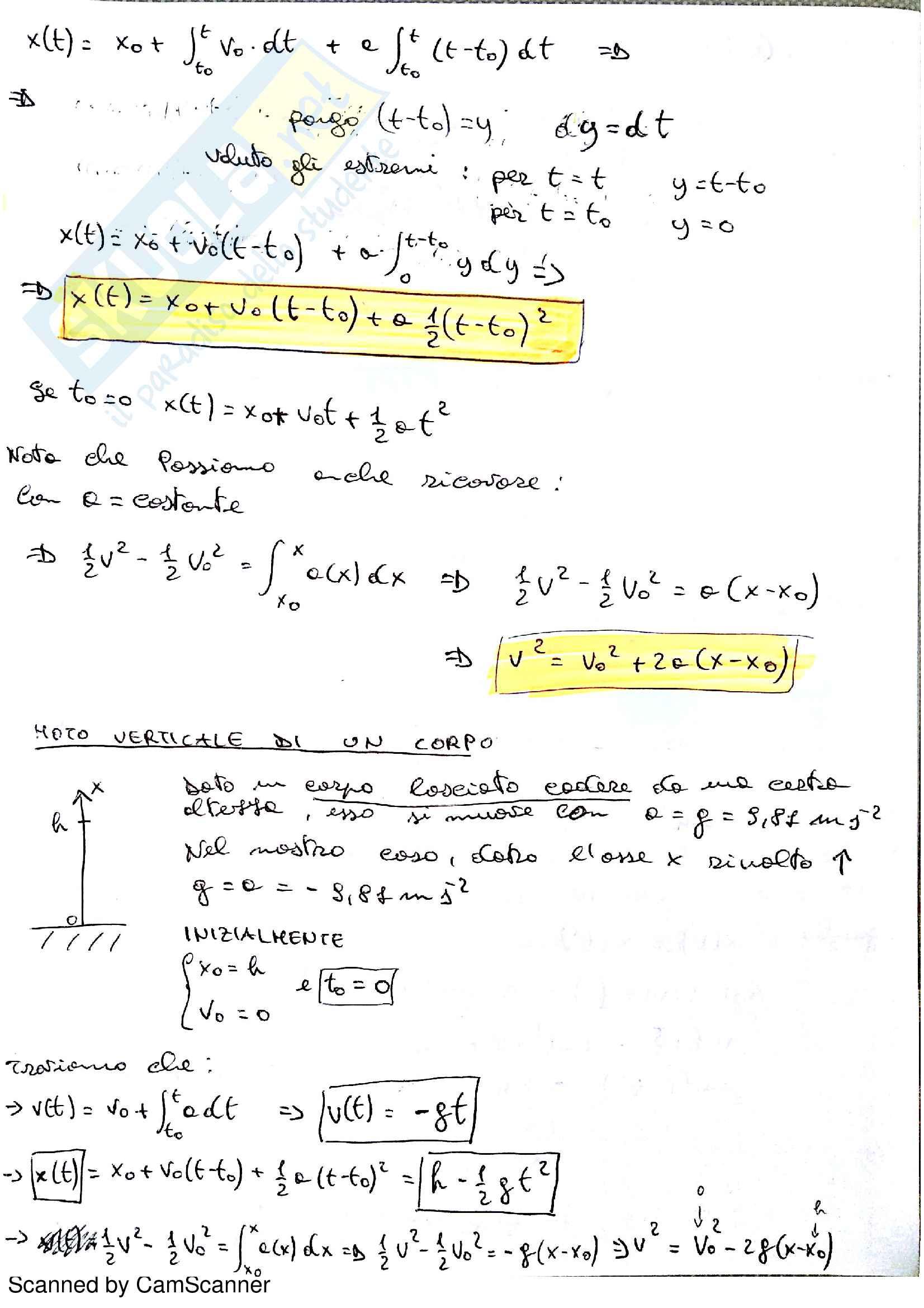Fisica 1 , Ghigo Gianluca, Appunti + QUIZ Esame + Temi Esame (Polito) Pag. 6