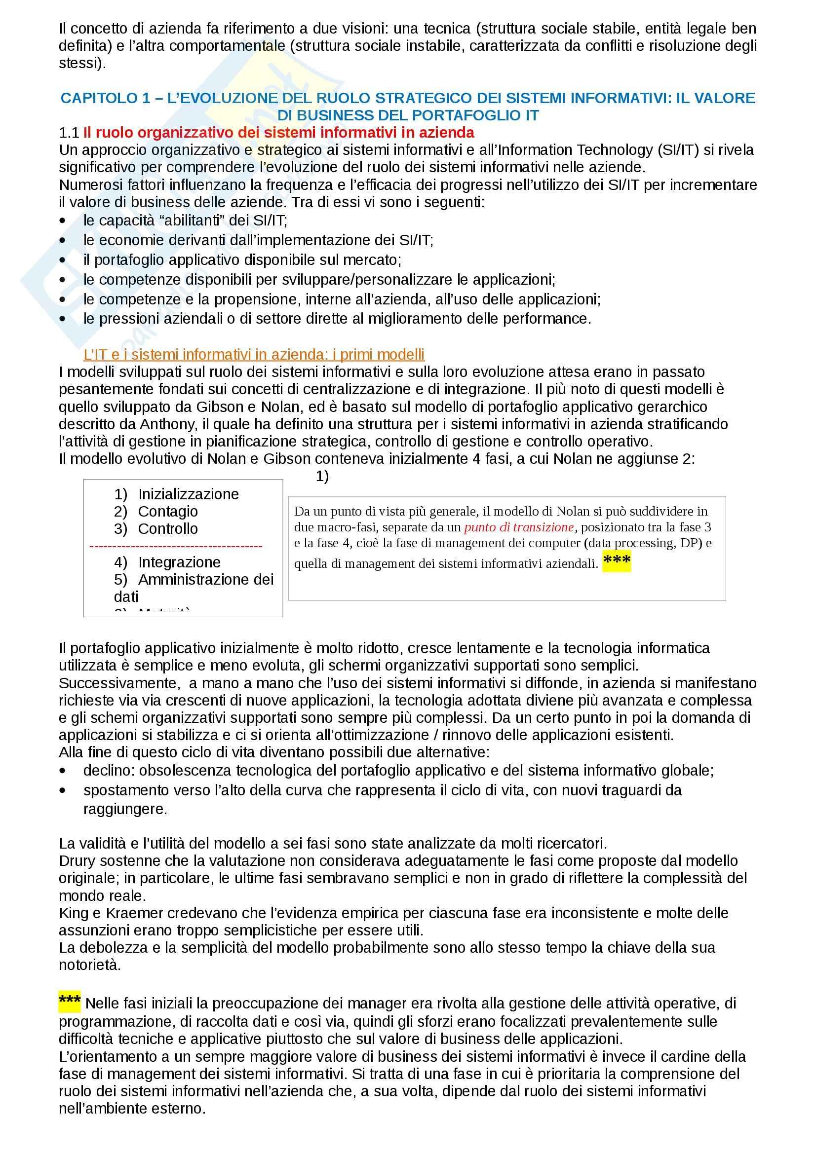 Riassunto esame Management dei sistemi informativi, prof. Morabito, libro consigliato Management dei sistemi informativi, Laudon Pag. 2