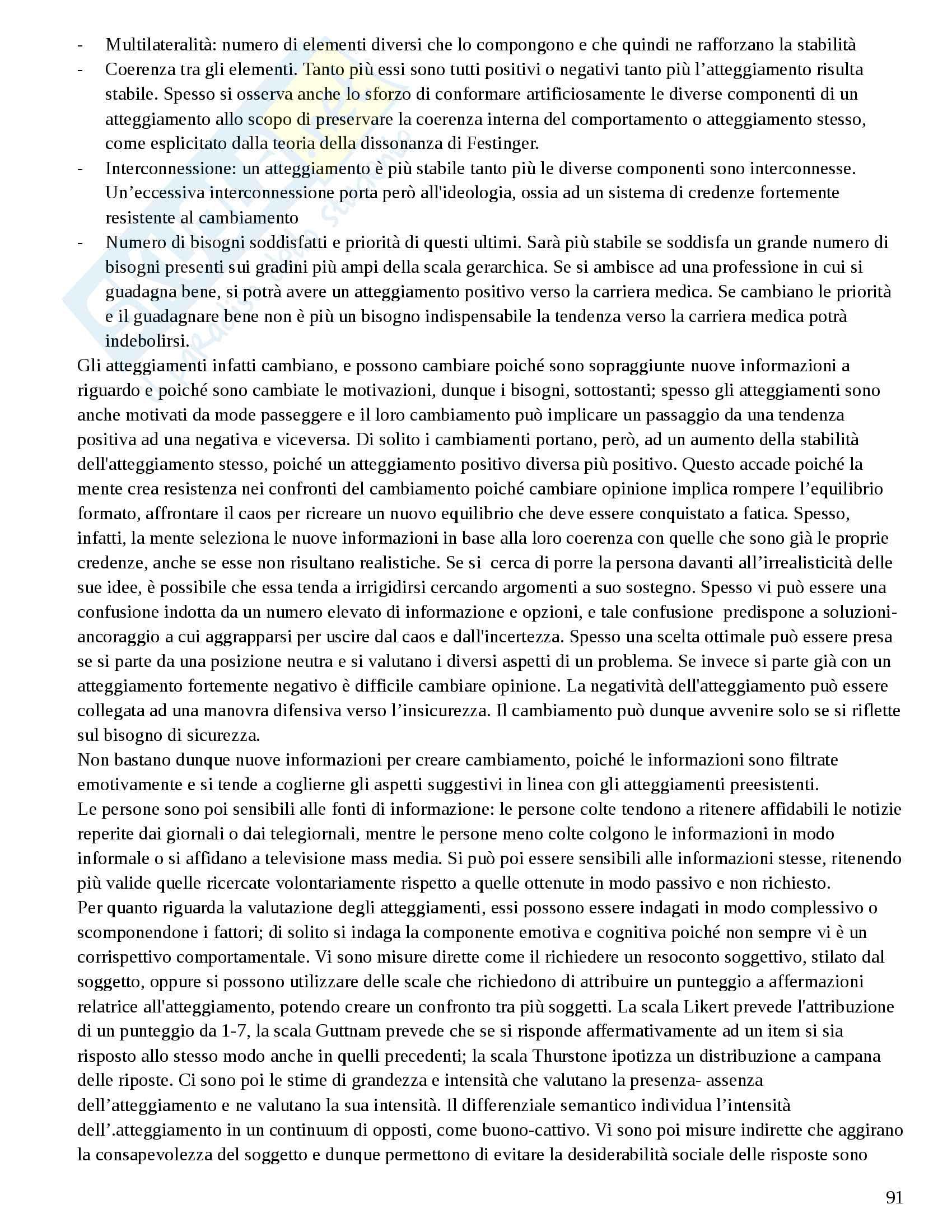 Riassunto esame preparazione Prima Prova Esame di Stato Psicologia (Albo A) Pag. 91