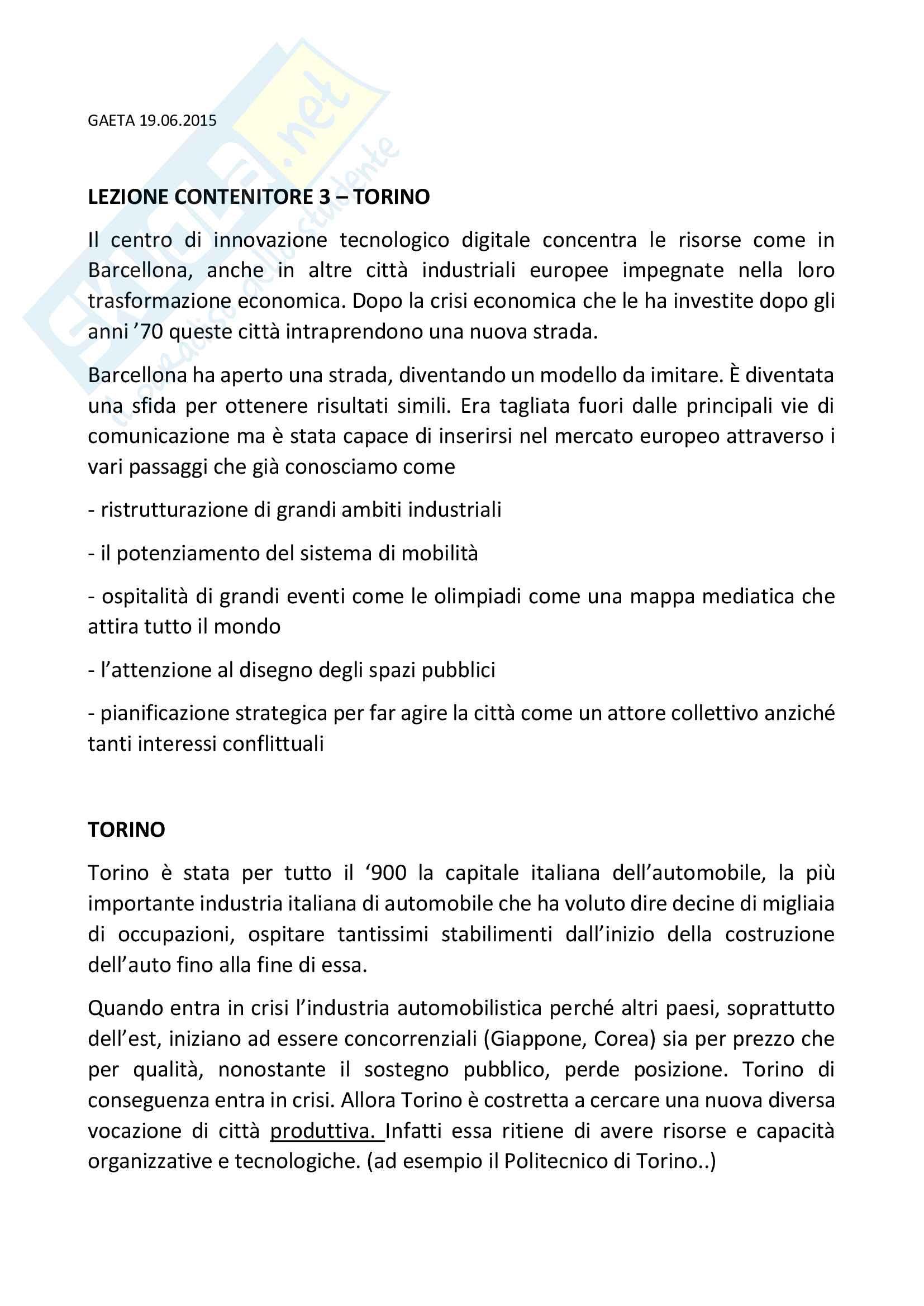 Torino, piano regolatore e piano strategico