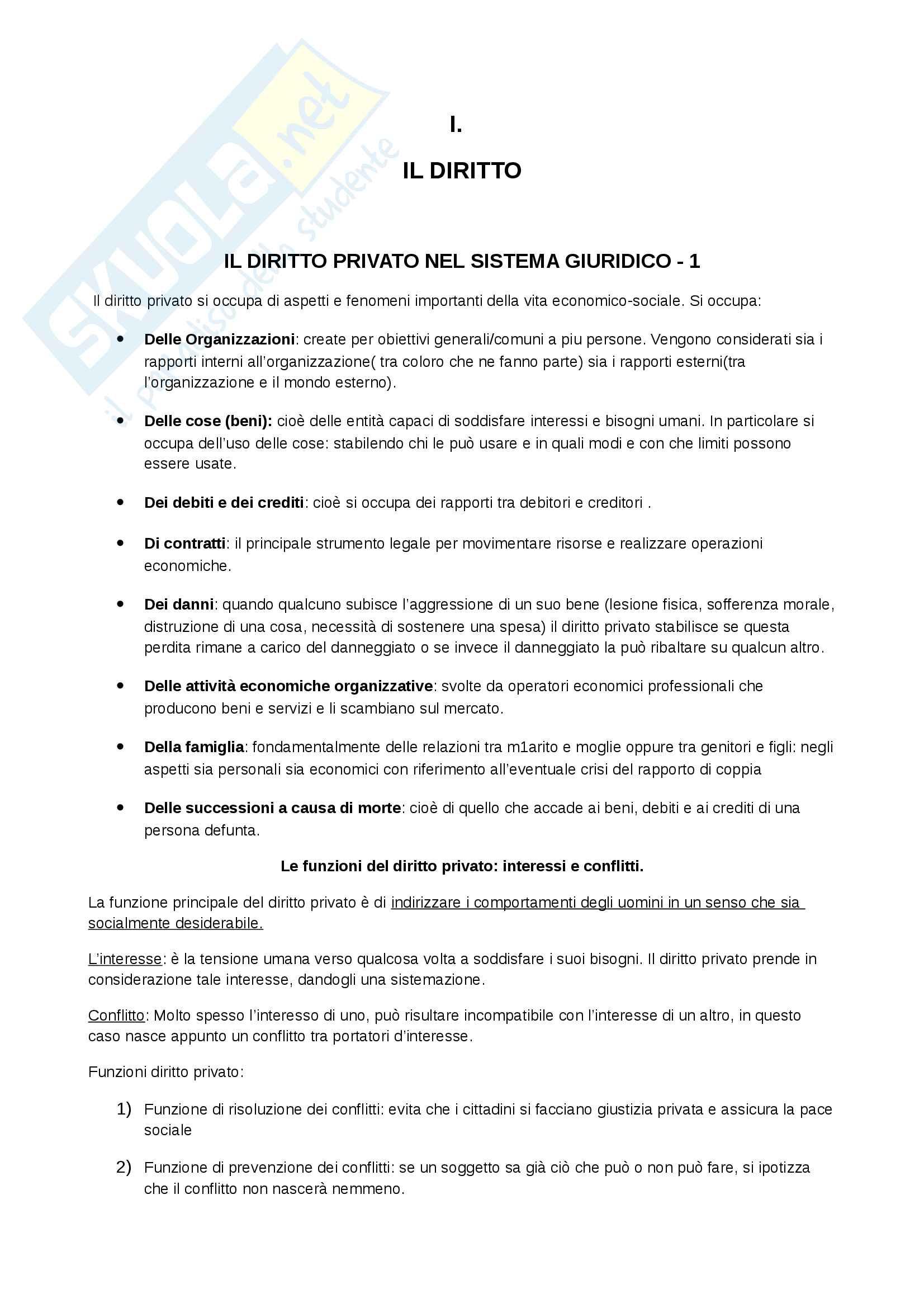 Riassunto esame Diritto Privato, docente Olivero, libro consigliato Diritto privato linee essenziali, Giappichelli editore