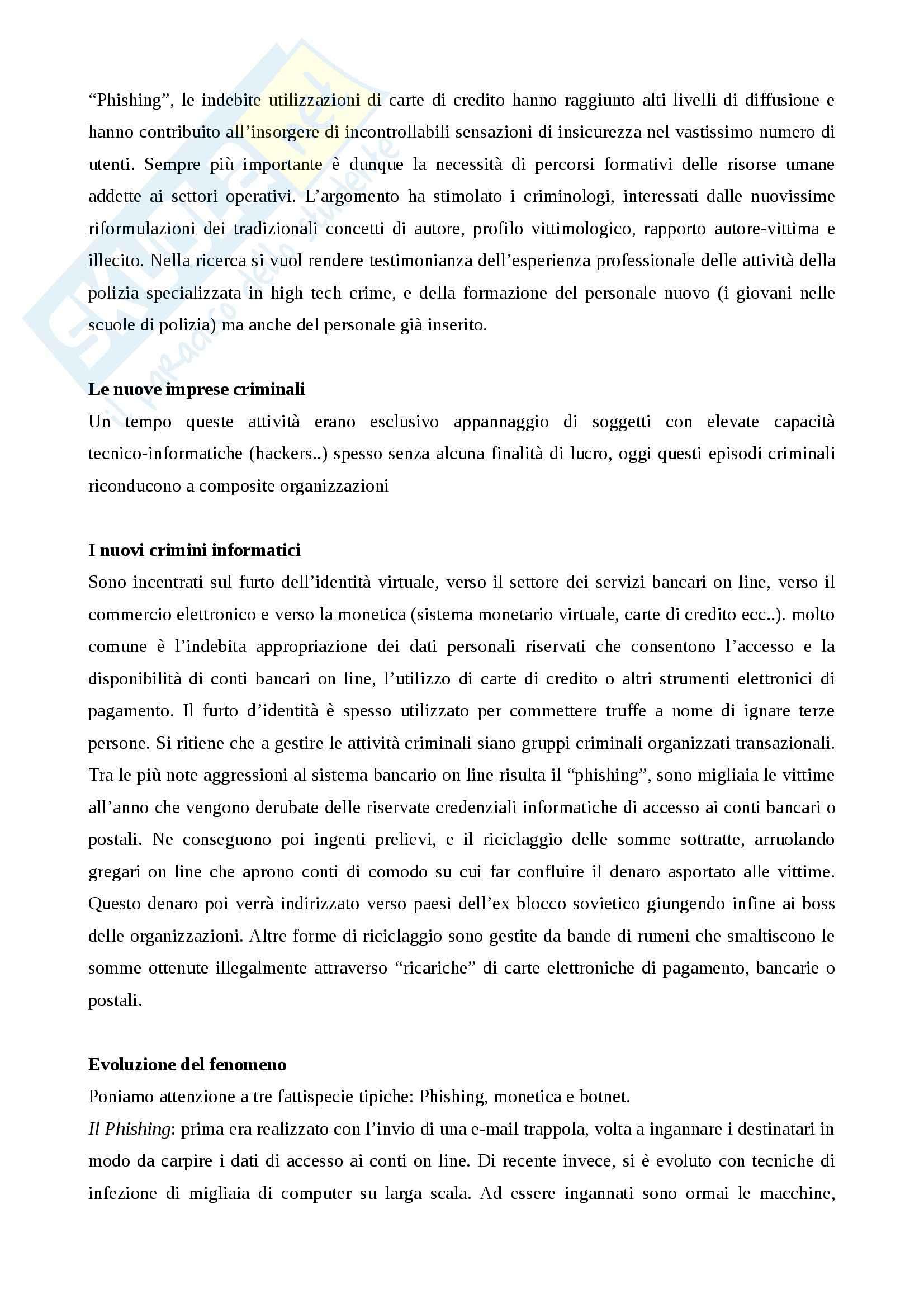 Riassunto esame Criminologia applicata, Criminologia e vittimologia Metodologia e strategie operative, Sette, prof. Bisi Pag. 51