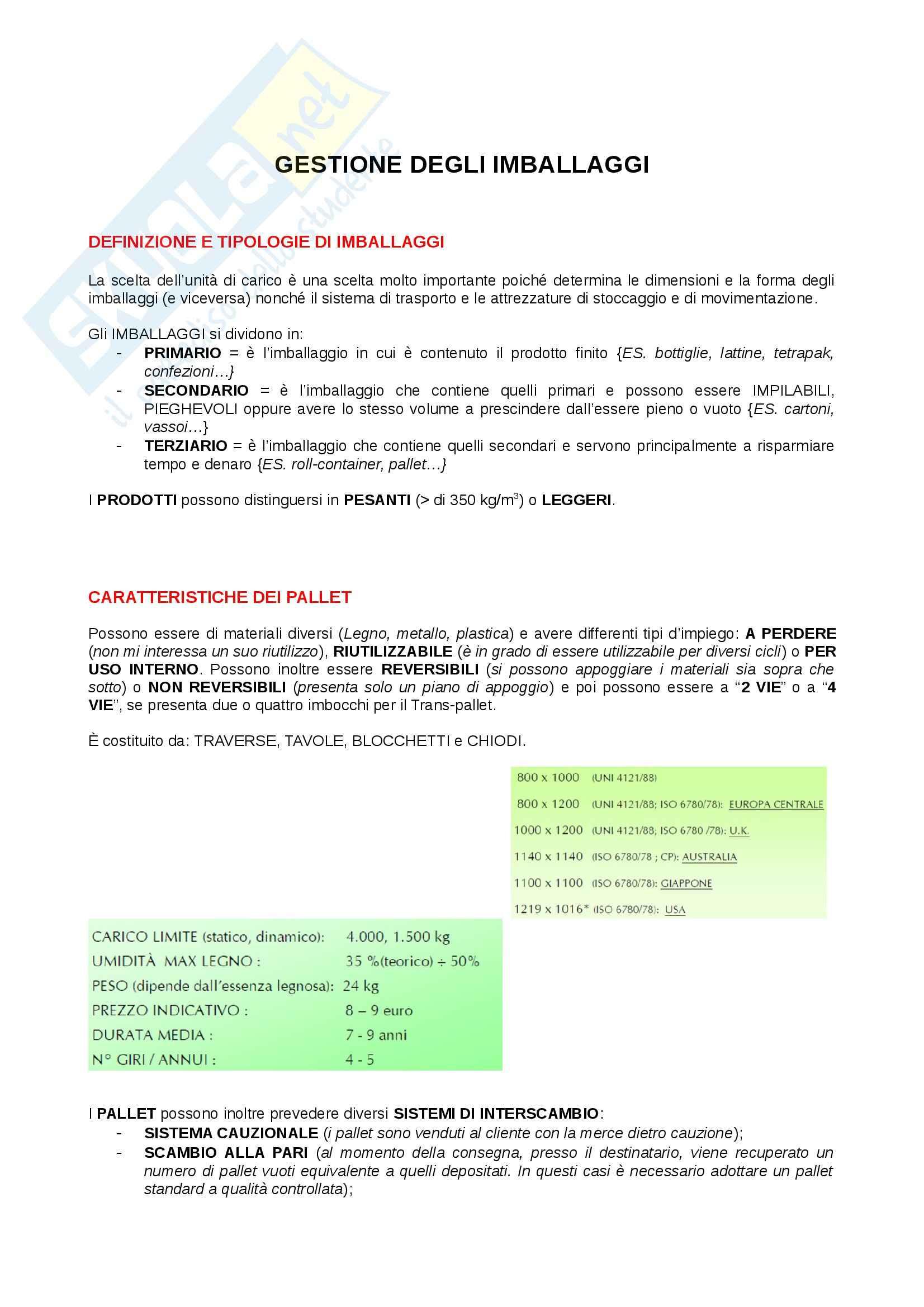 Riassunto esame Logistica, prof. Dallari Pag. 2