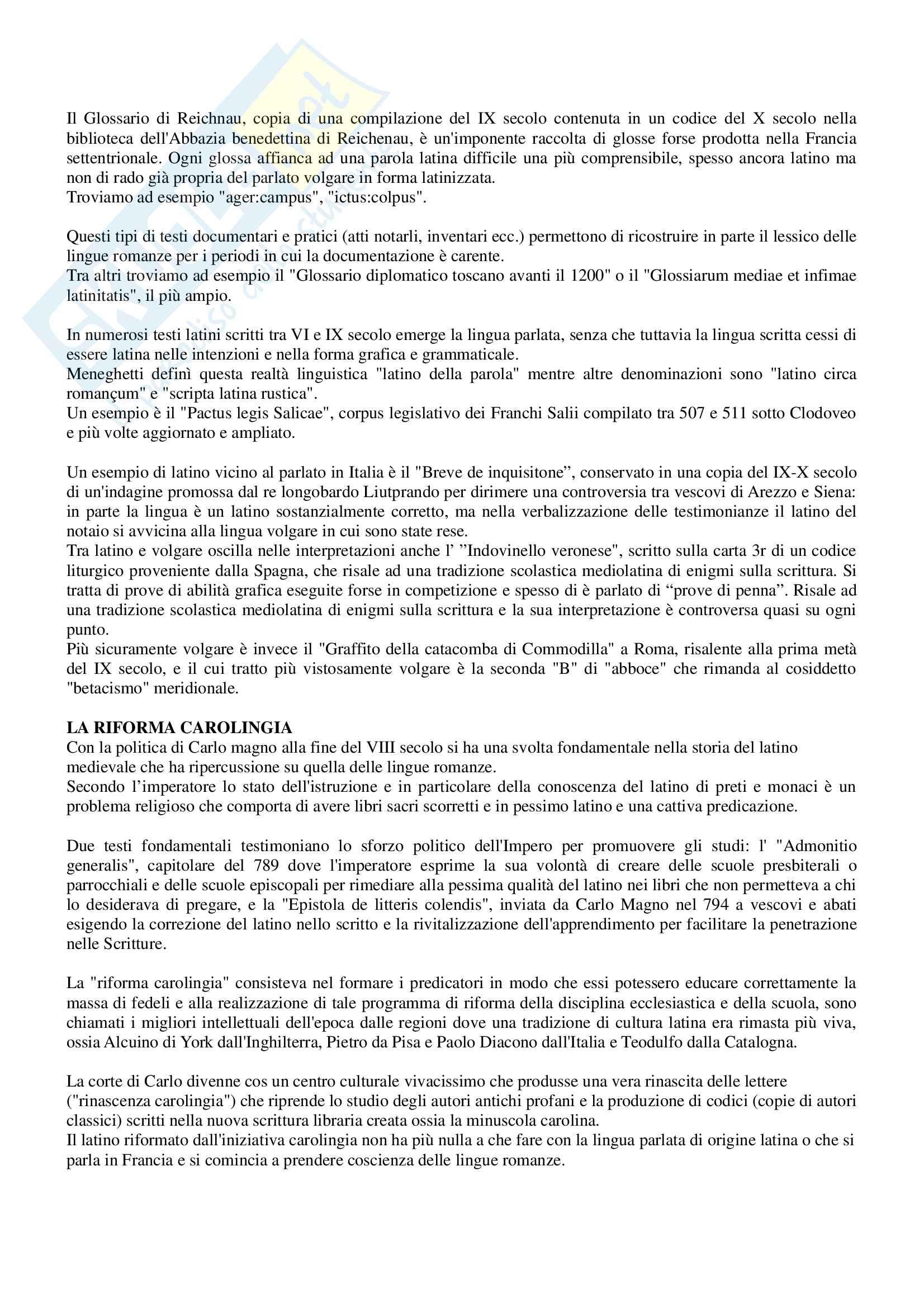 Riassunto per esame Filologia romanza, prof Paradisi, libro consigliato: La filologia romanza, Beltrami, 2017 Pag. 16