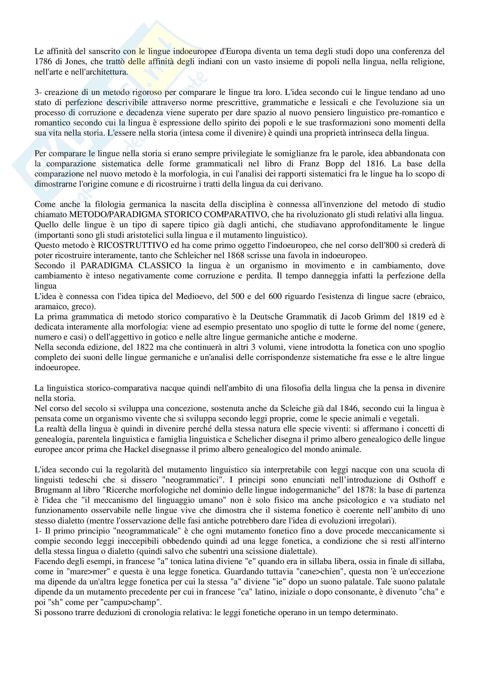 Riassunto per esame Filologia romanza, prof Paradisi, libro consigliato: La filologia romanza, Beltrami, 2017 Pag. 2