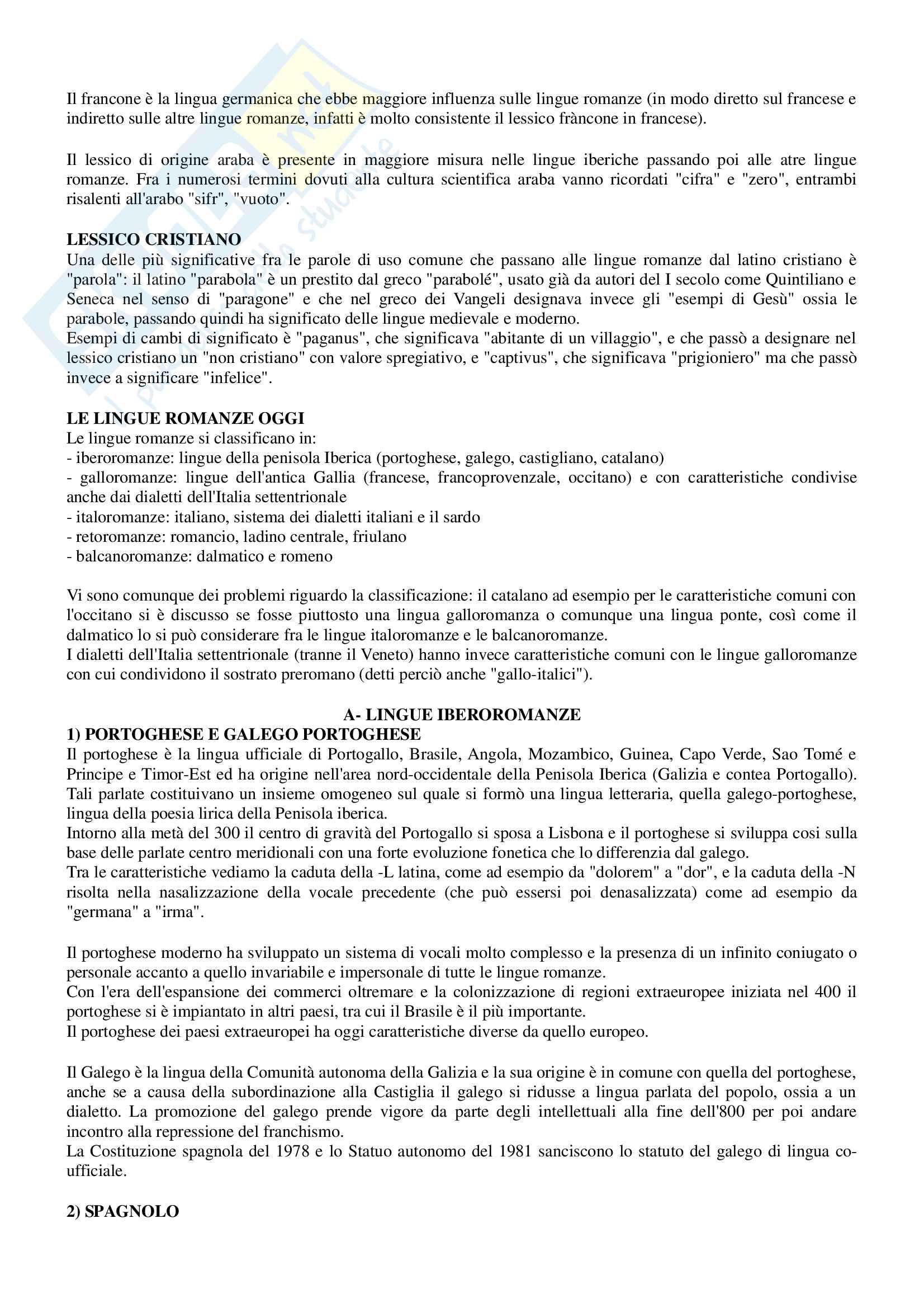 Riassunto per esame Filologia romanza, prof Paradisi, libro consigliato: La filologia romanza, Beltrami, 2017 Pag. 21