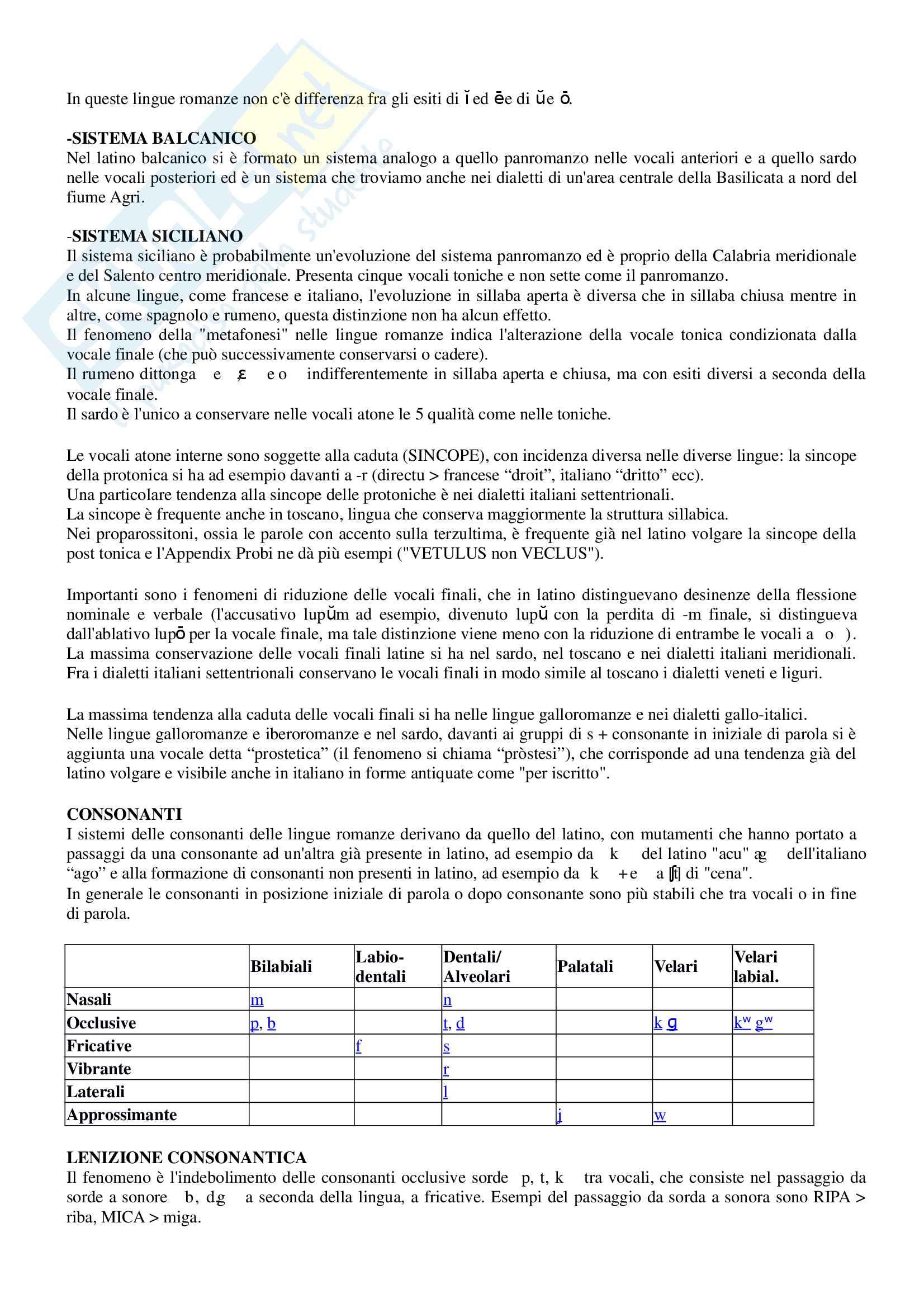 Riassunto per esame Filologia romanza, prof Paradisi, libro consigliato: La filologia romanza, Beltrami, 2017 Pag. 26