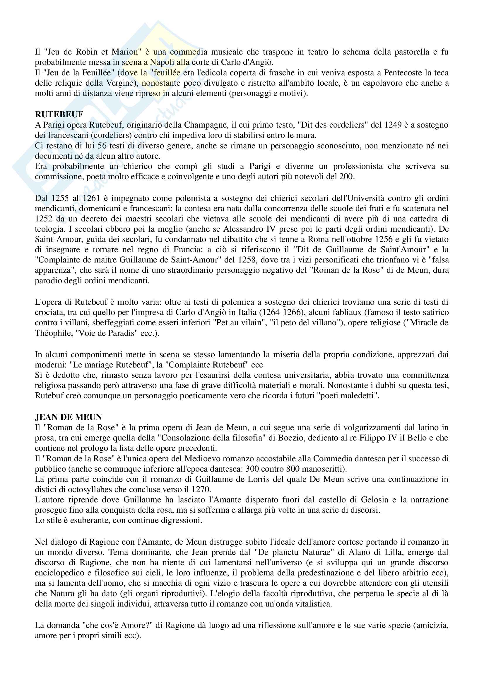 Riassunto per esame Filologia romanza, prof Paradisi, libro consigliato: La filologia romanza, Beltrami, 2017 Pag. 41