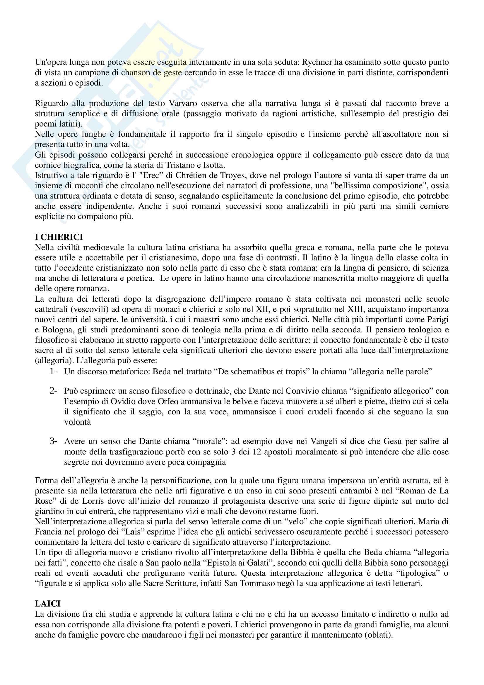Riassunto per esame Filologia romanza, prof Paradisi, libro consigliato: La filologia romanza, Beltrami, 2017 Pag. 46