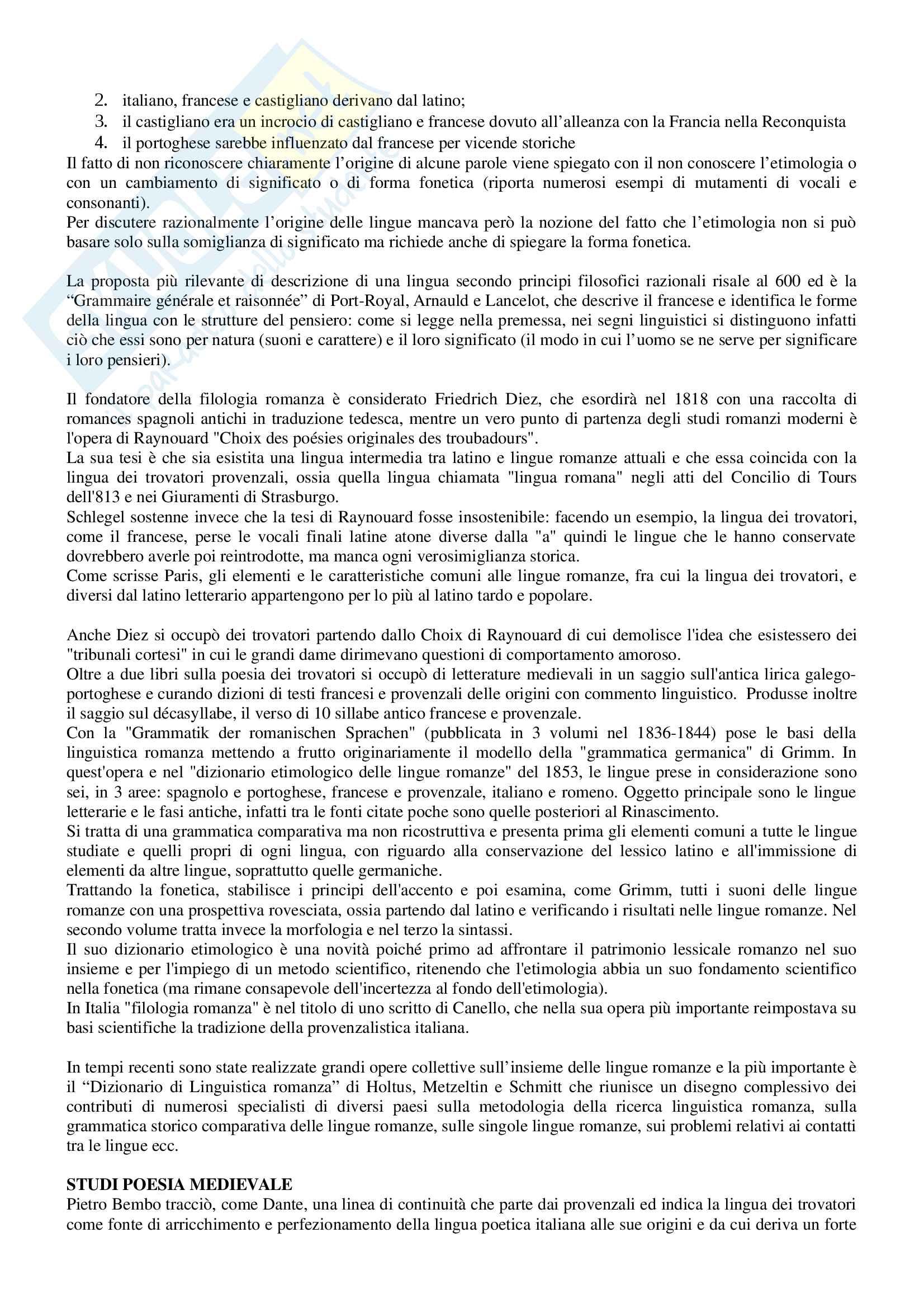 Riassunto per esame Filologia romanza, prof Paradisi, libro consigliato: La filologia romanza, Beltrami, 2017 Pag. 6
