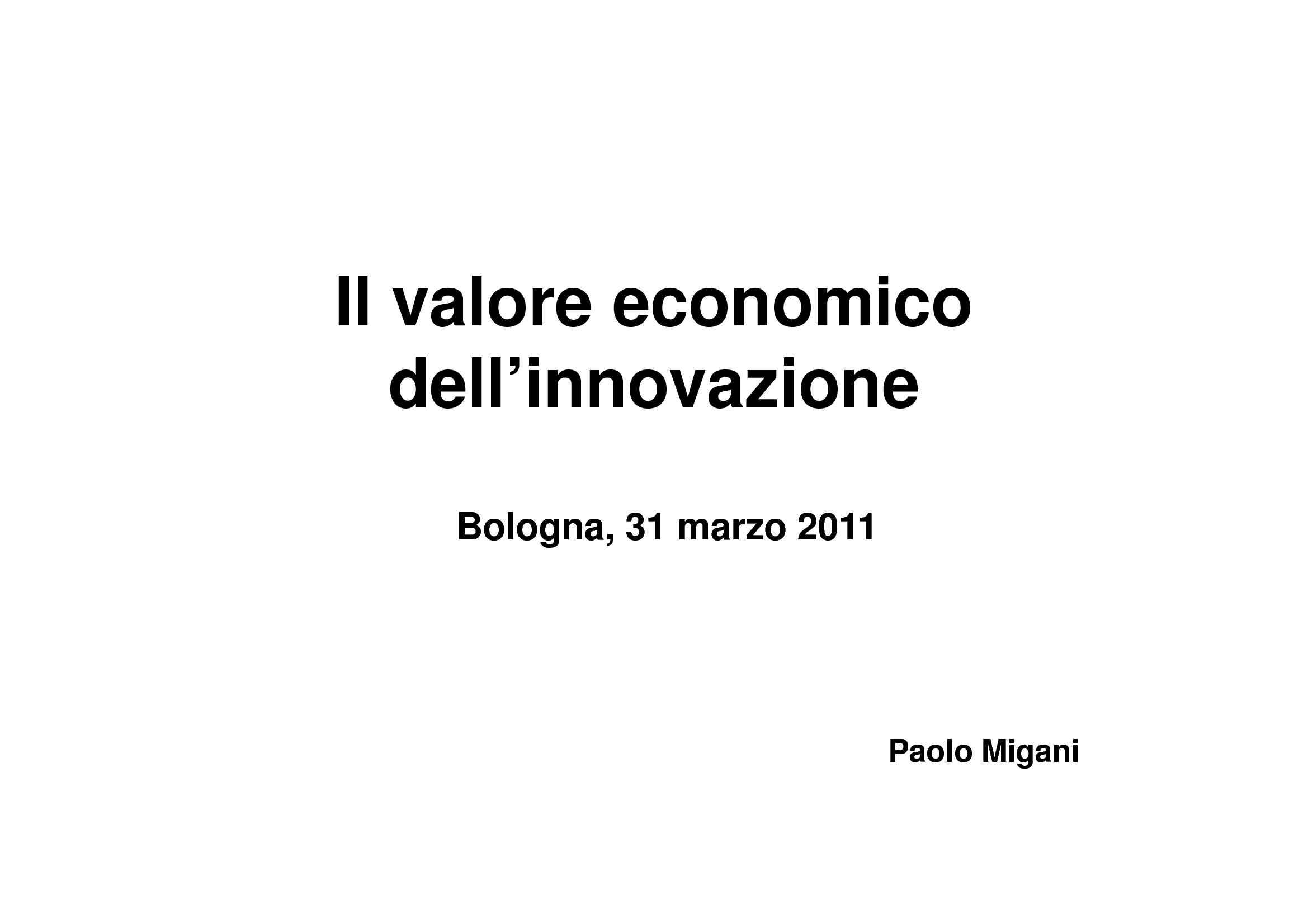 Marchio e brevetti come valore economico