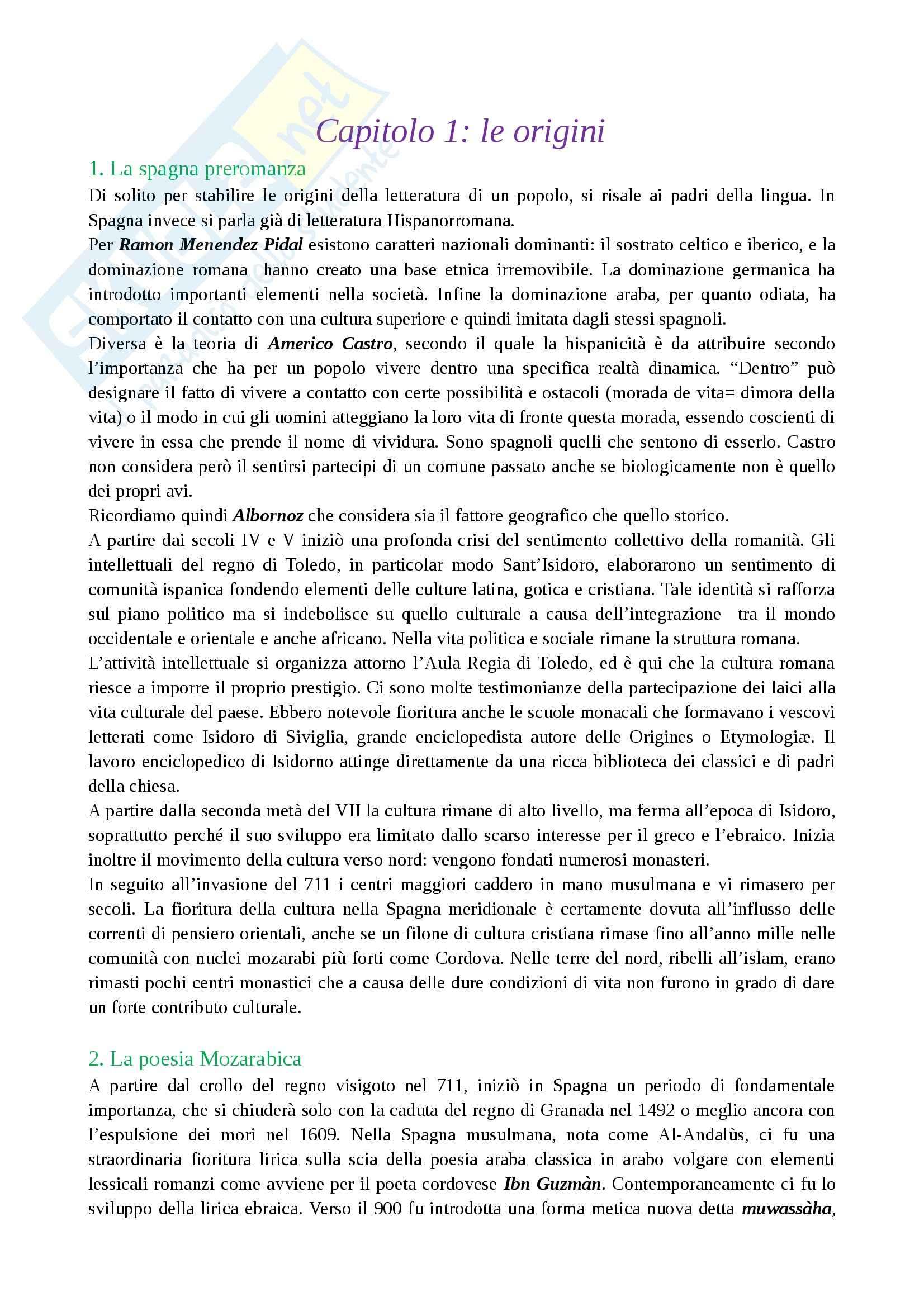 Letteratura spagnola I - Dalla Spagna preromanza al romanzo cavalleresco