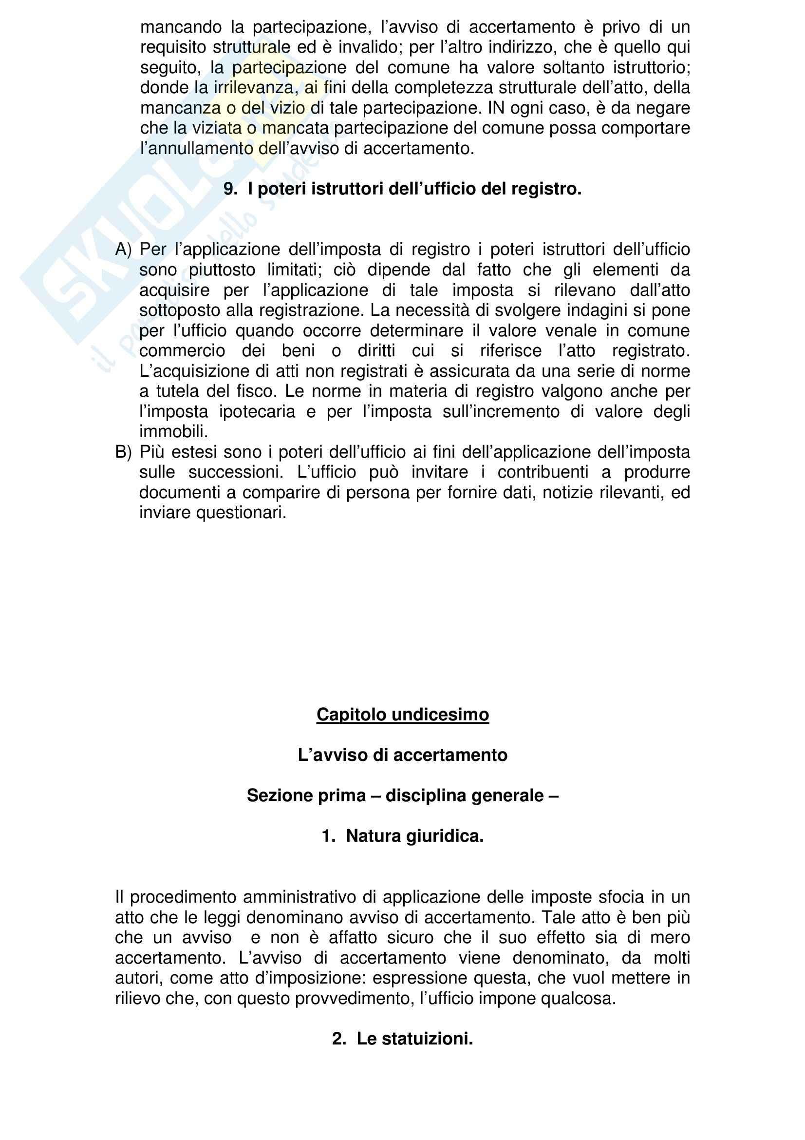 Riassunto esame Diritto Tributario, prof. Marello, libro consigliato Compendio di Diritto Tributario, Tesauro Pag. 56