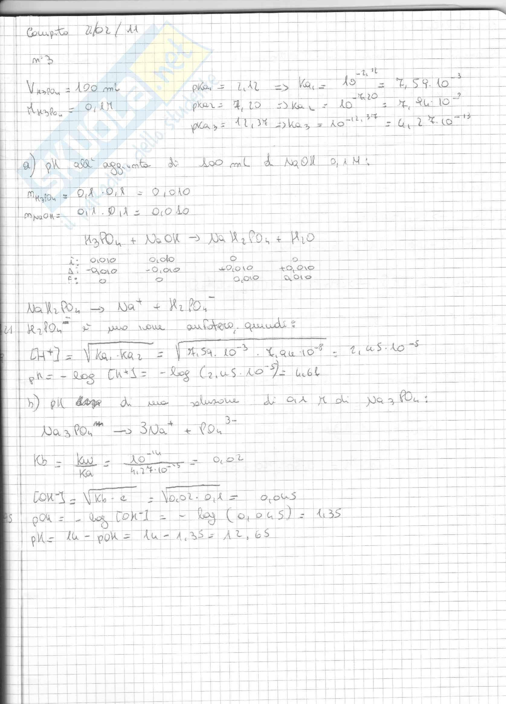 Esercizi Svolti Di Chimica Inorganica Pag. 11