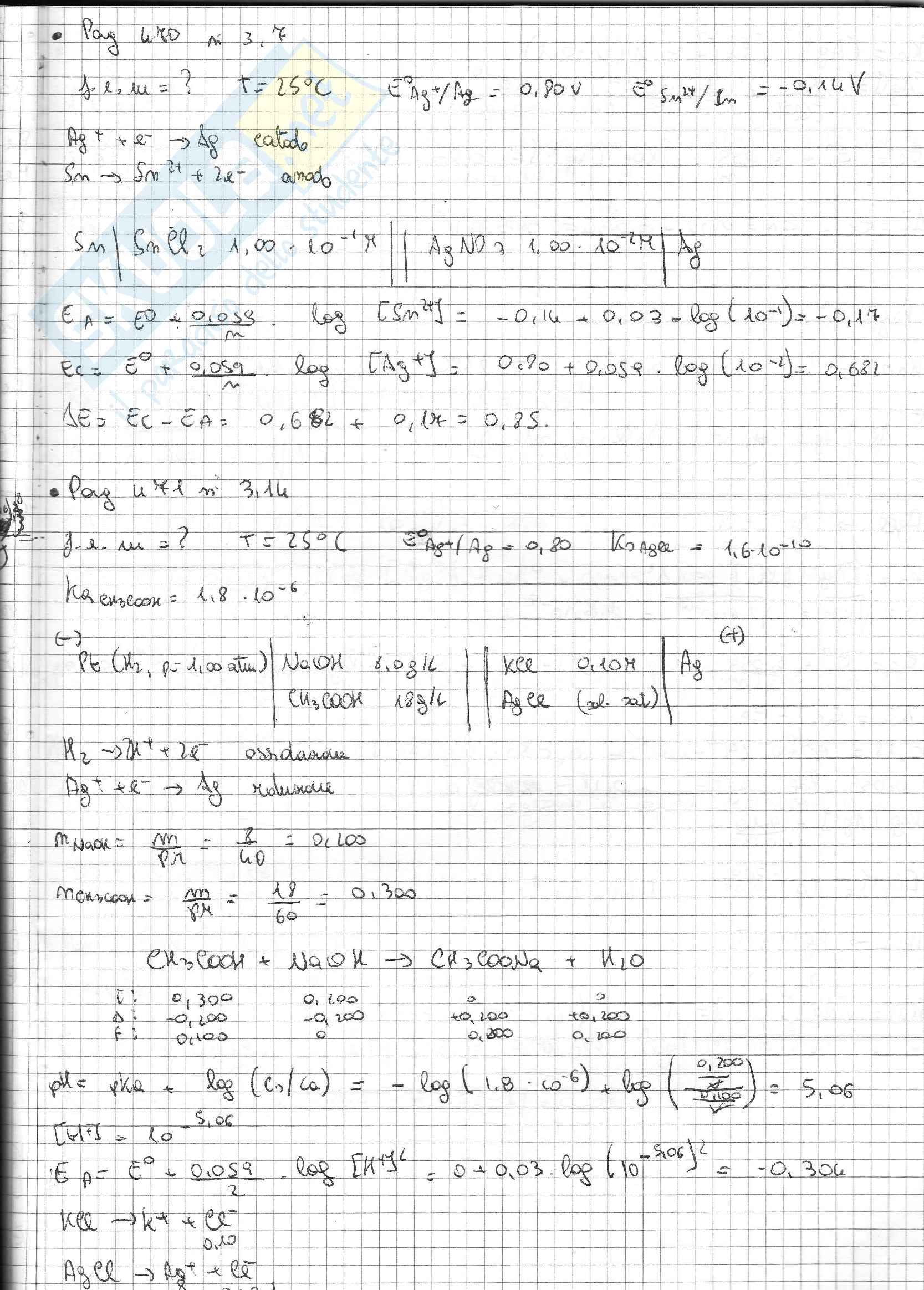 Esercizi Svolti Di Chimica Inorganica Pag. 26