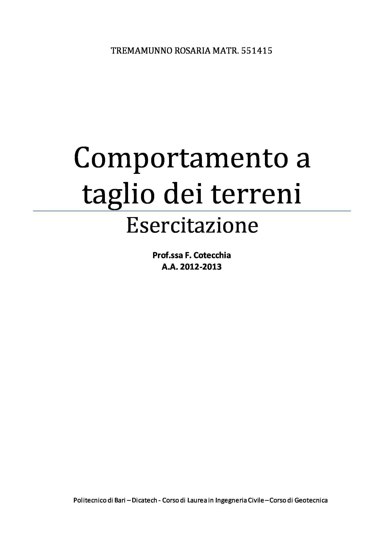 Geotecnica - Esercitazioni Pag. 36