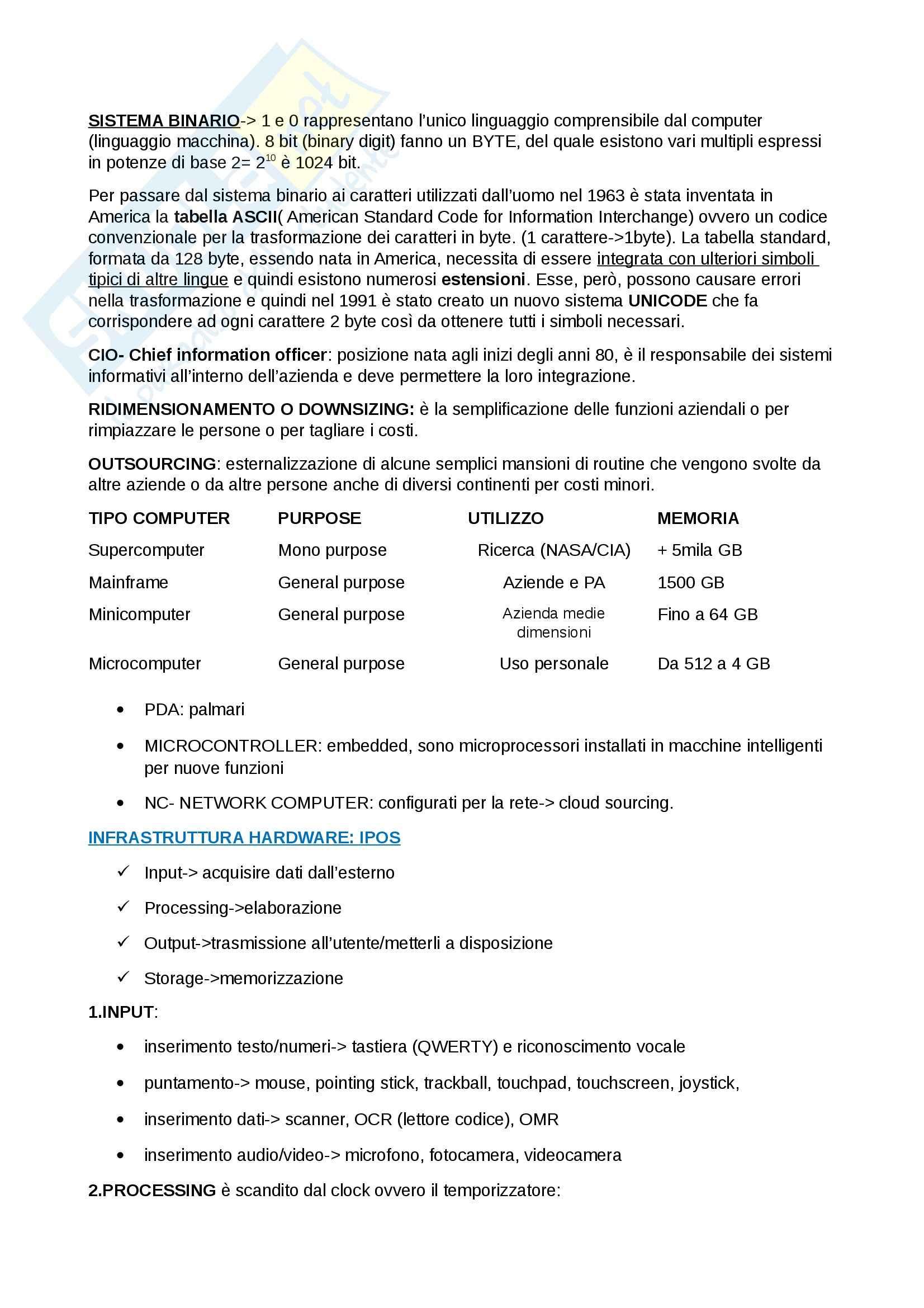 Riassunto esame ICT, prof. Carignani, libro consigliato Sistemi Informativi e Mercati Digitali, Pearson Pag. 2