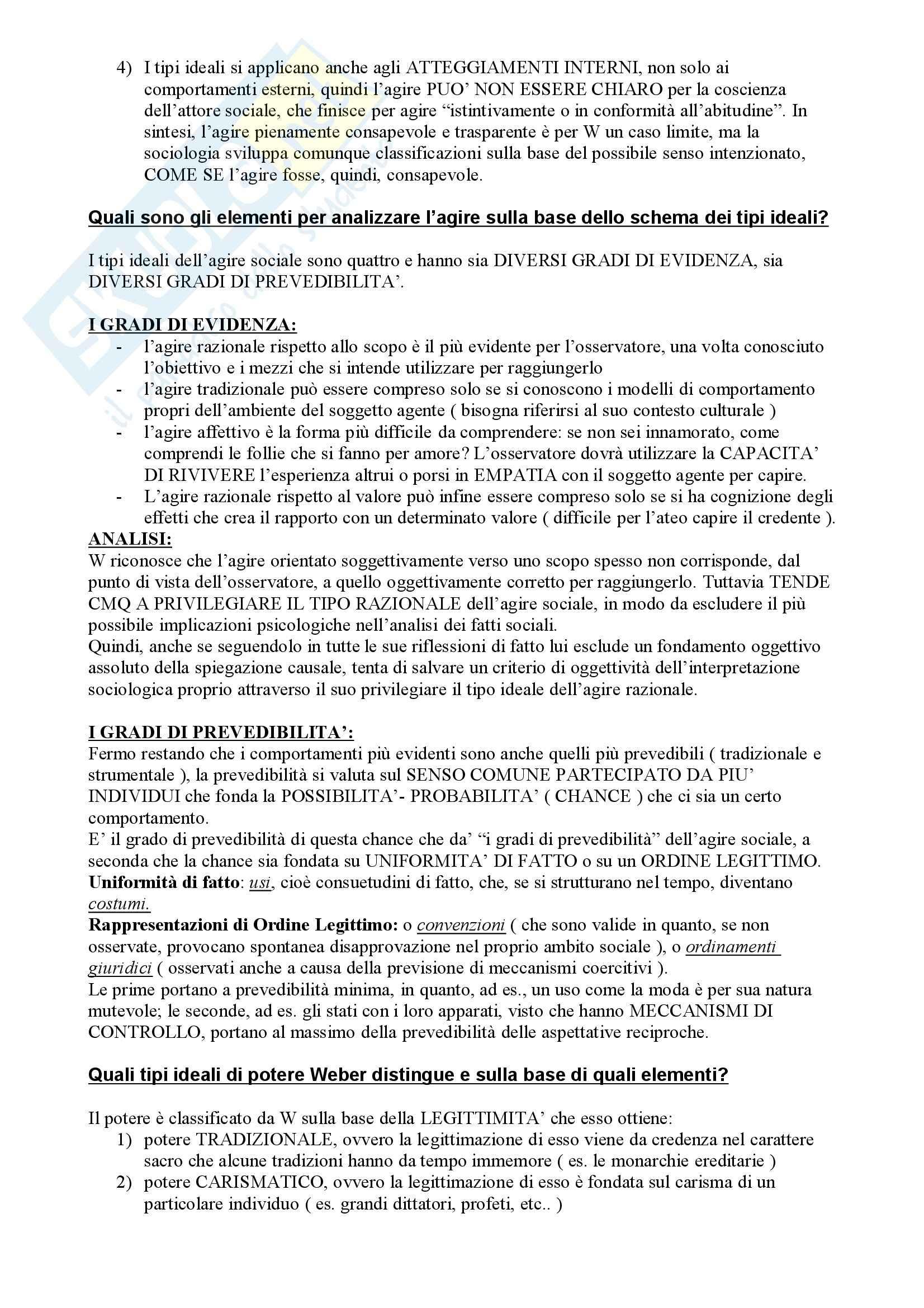 Il pensiero sociologico, Crespi - Risposte a domande finali Pag. 11